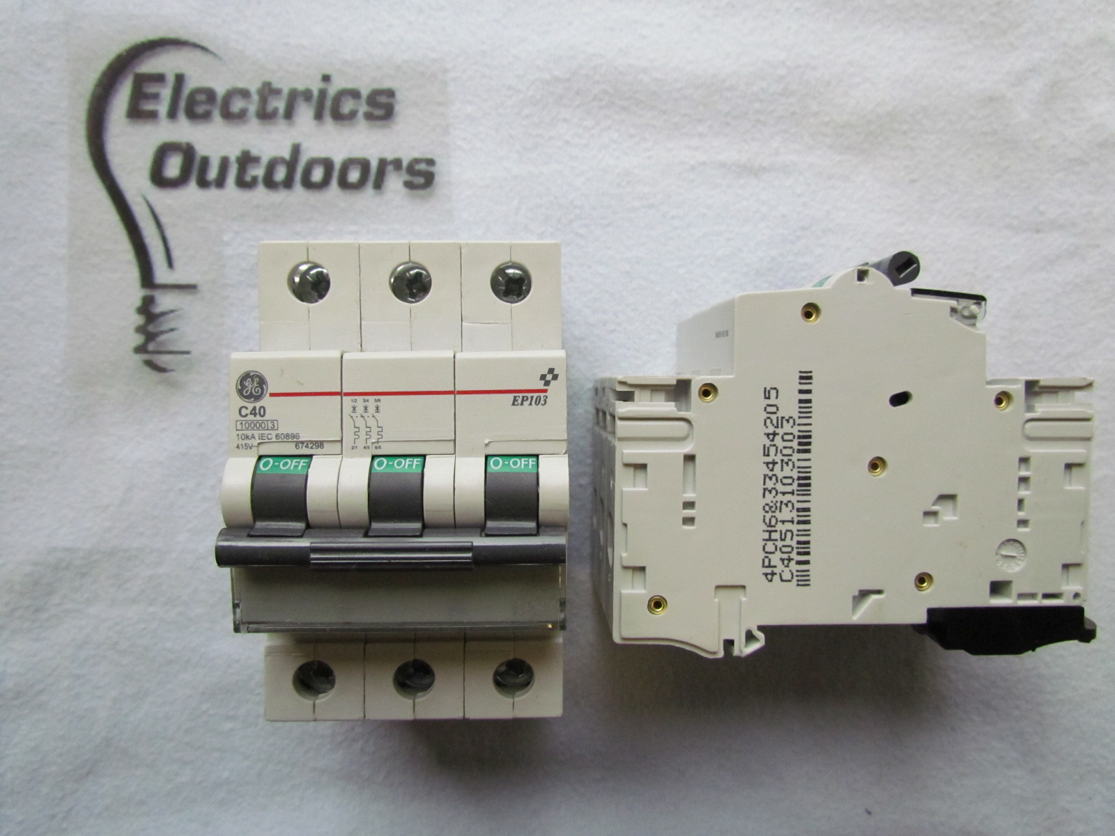 GENERAL ELECTRIC 40 AMP TYPE C TRIPLE 3 POLE MCB CIRCUIT BREAKER EP103 674298 A