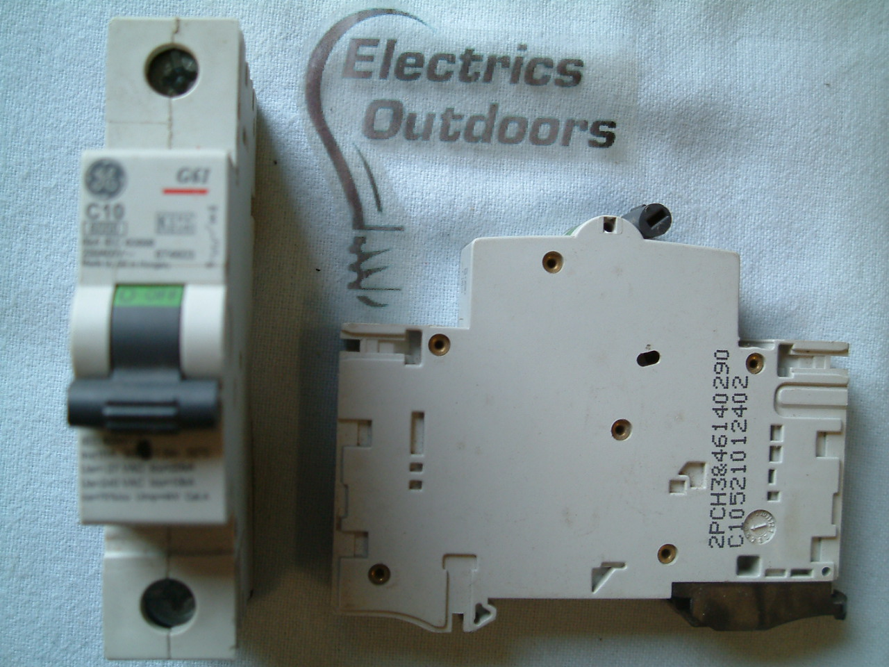 GE GENERAL ELECTRIC 10 AMP TYPE C 6 KA MCB 230V 400V G61 674603