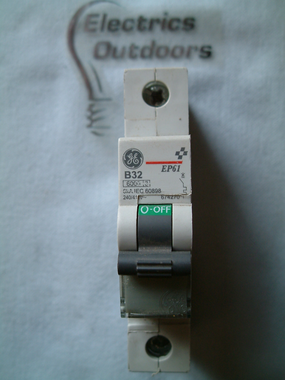GENERAL ELECTRIC 32 AMP TYPE B 6 kA MCB CIRCUIT BREAKER EP61 674270