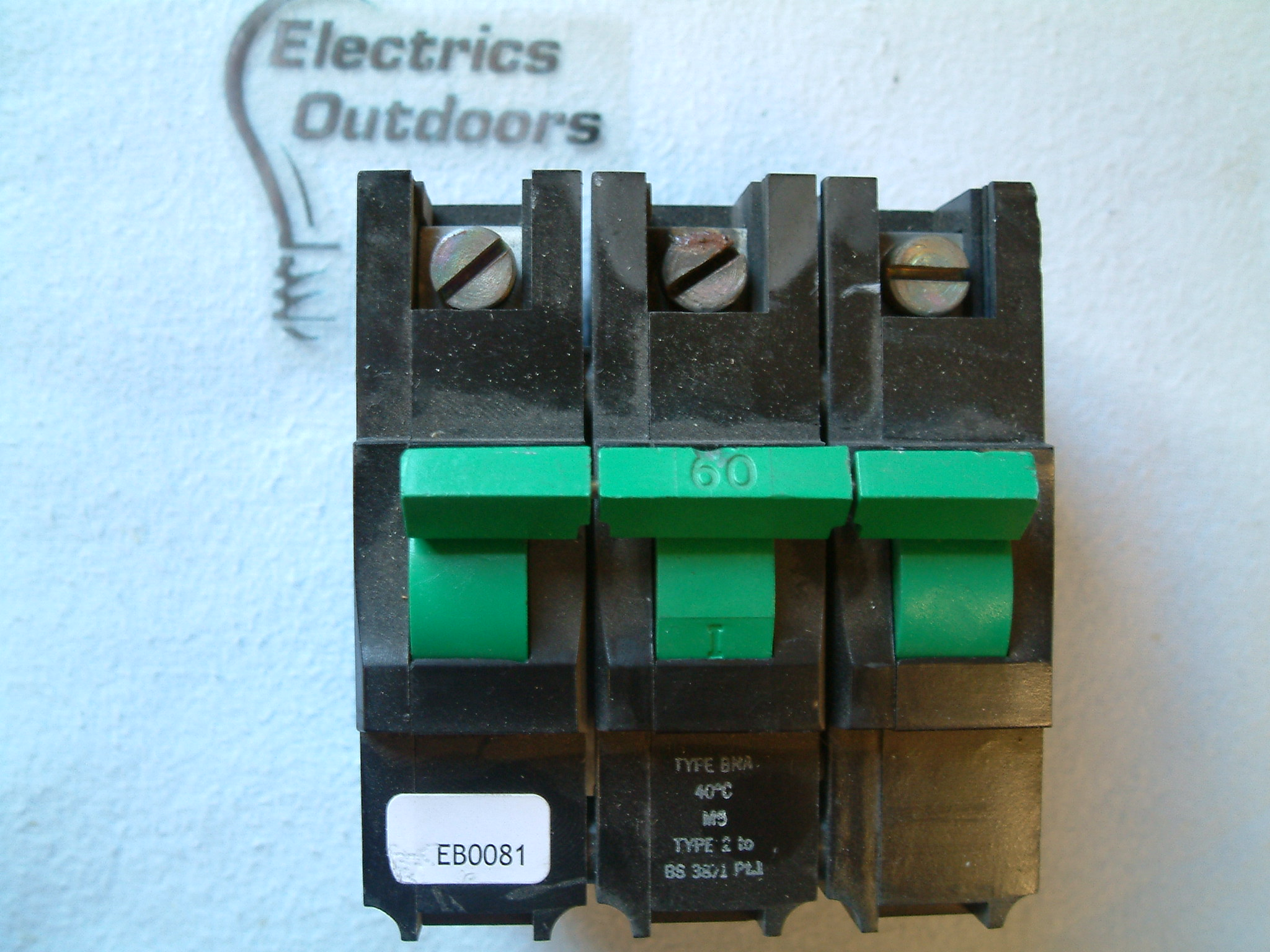 FEDERAL ELECTRIC STABLOK 60 AMP TYPE 2 M5 MCB TRIPLE POLE BNA BS