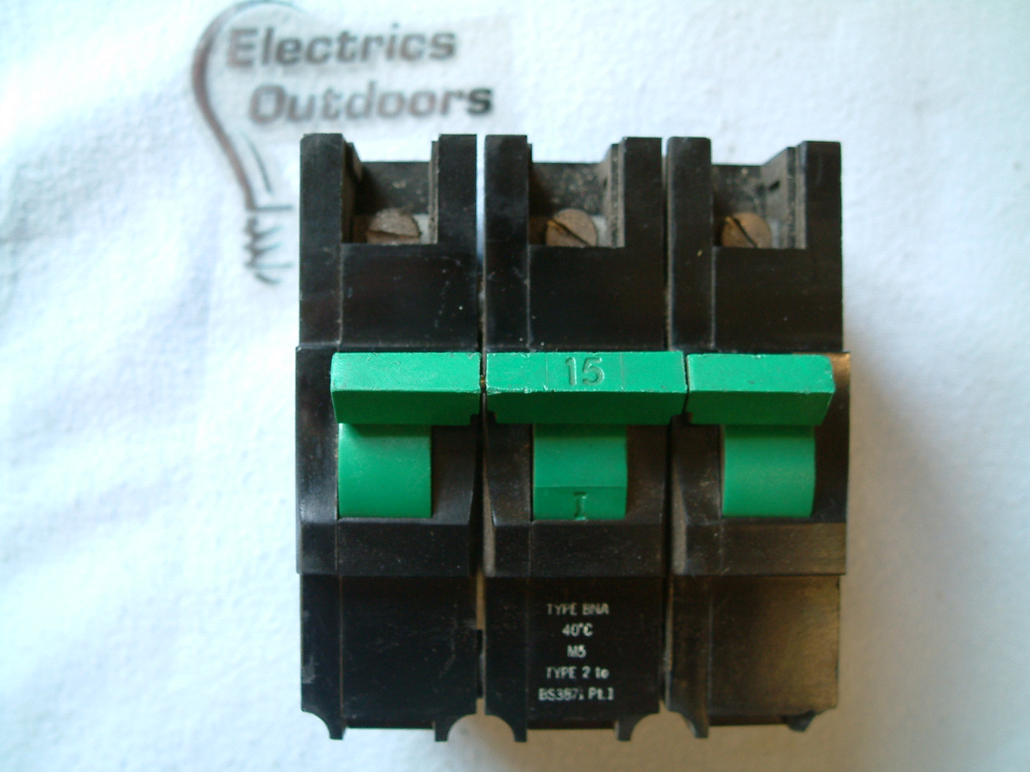 FEDERAL ELECTRIC STABLOK 15 AMP TYPE 2 M5 MCB TRIPLE POLE BNA BS