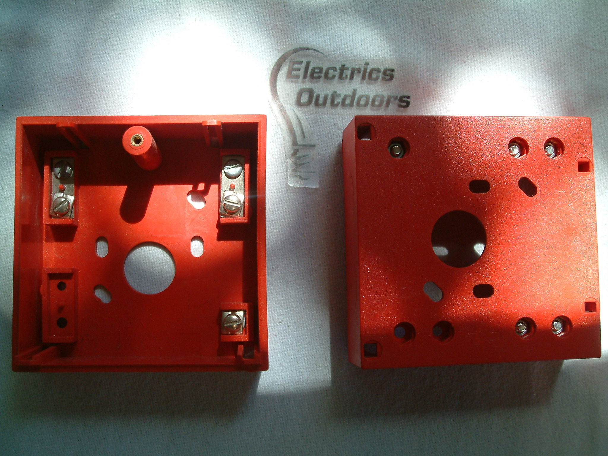 6 x CALL POINT BACK BOX RED SURFACE MOUNT