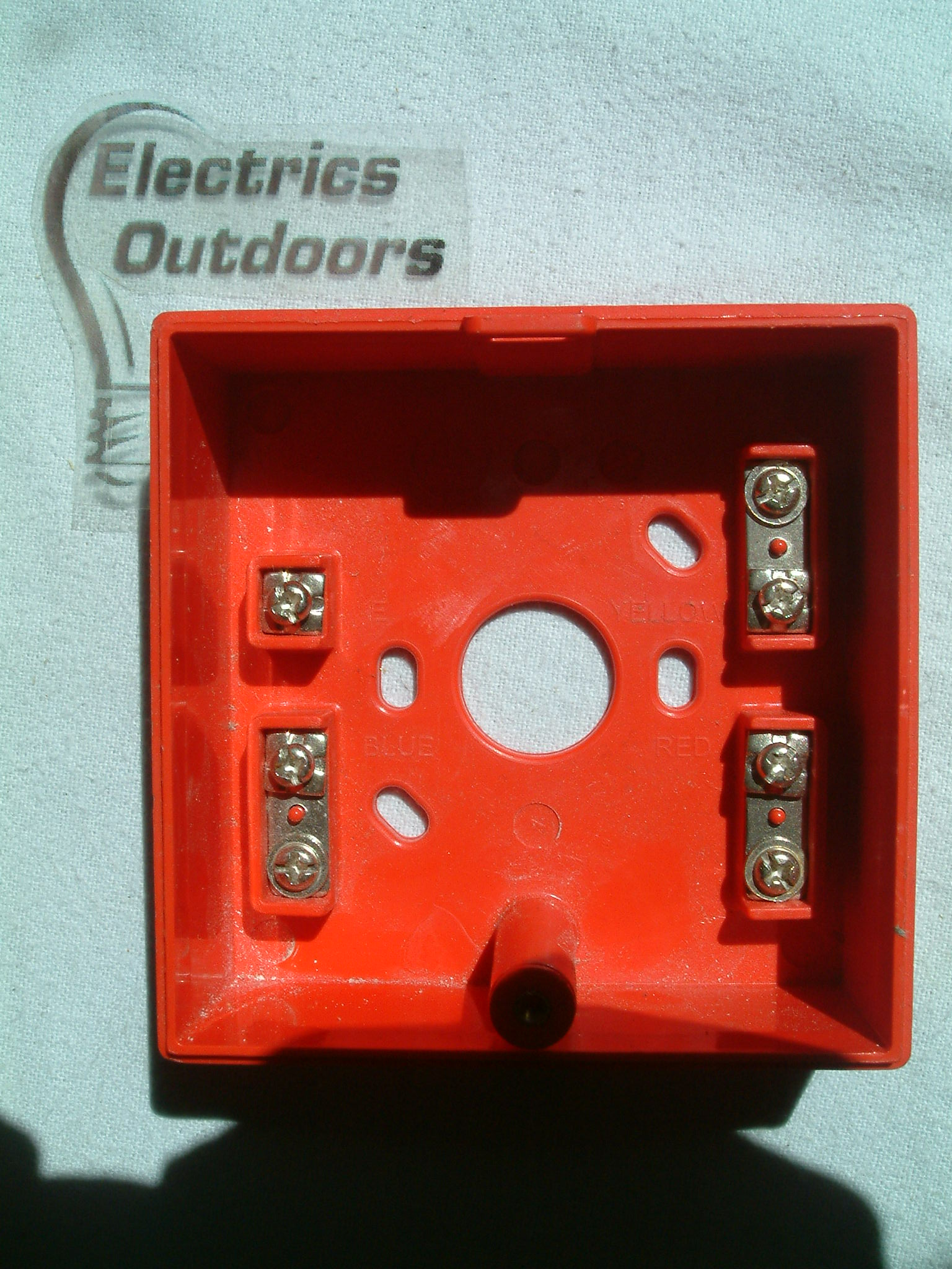 7 x CALL POINT BACK BOX RED SURFACE MOUNT