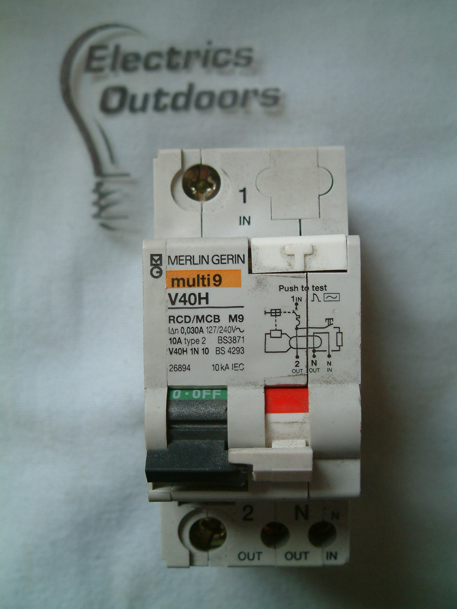 MERLIN GERIN 10 AMP TYPE 2 M9 30 mA DOUBLE POLE RCBO RCD MCB 127