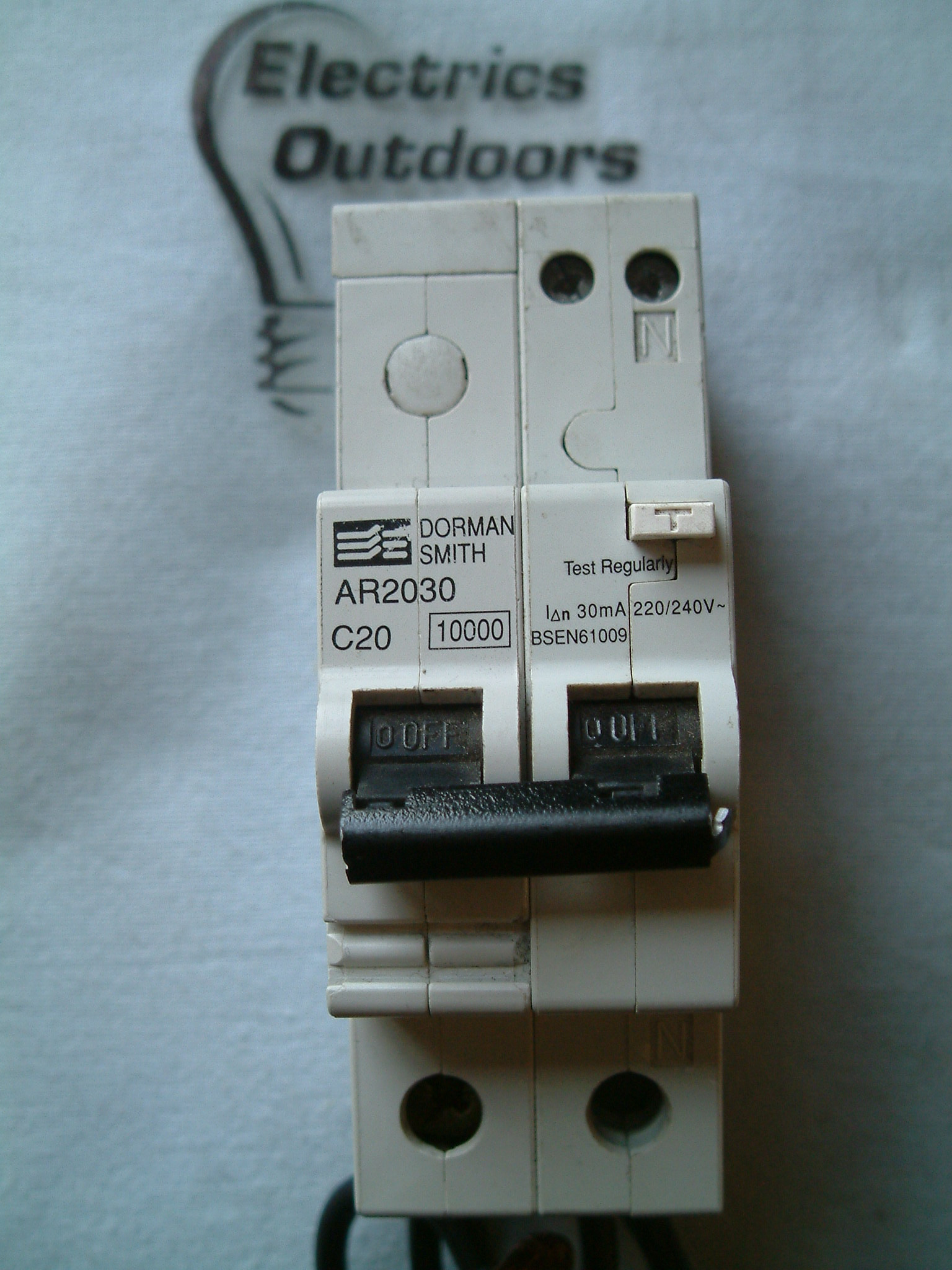 DORMAN SMITH 20 AMP TYPE C 10KA 30mA DOUBLE 2 POLE RCBO RCD MCB
