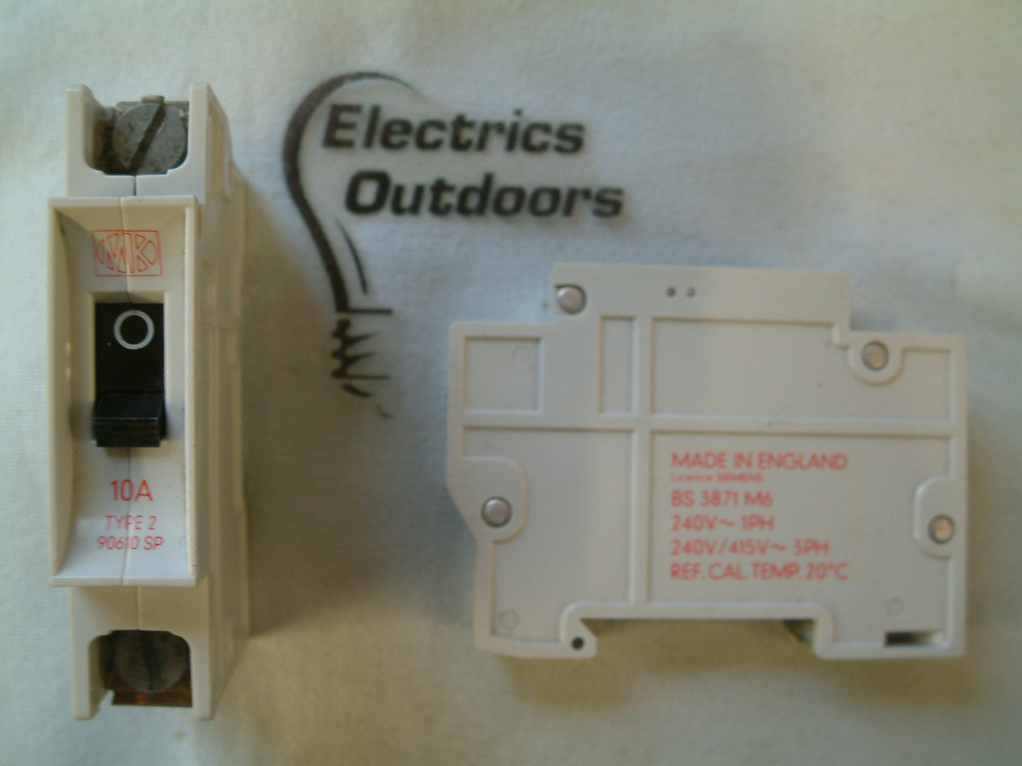 MK 10 AMP TYPE 2 M6 240V SINGLE POLE MCB CIRCUIT BREAKER 90610 S