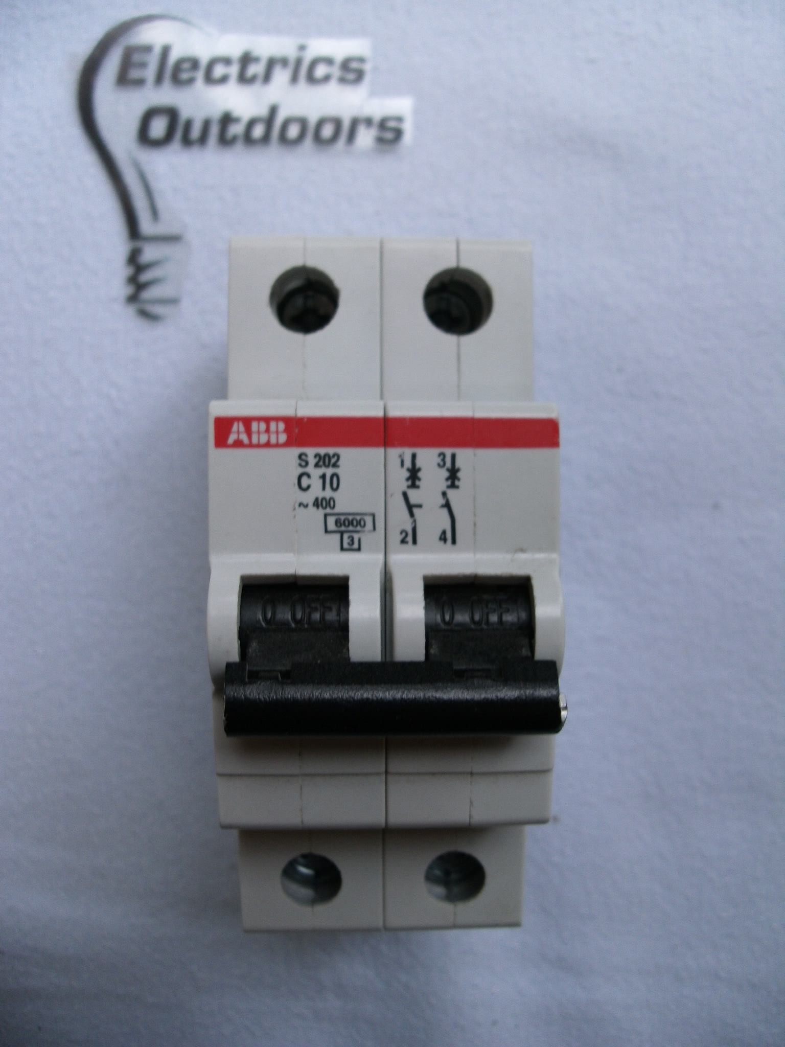 ABB 10 AMP TYPE C 6 kA DOUBLE 2 POLE MCB CIRCUIT BREAKER 230/400