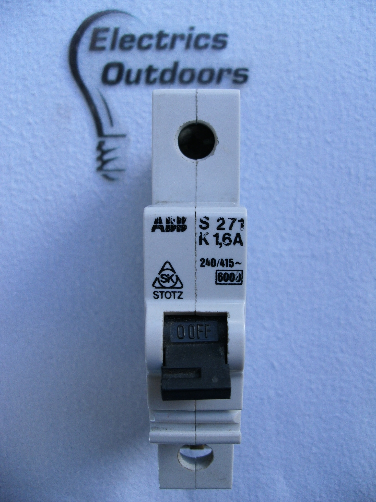 ABB 1,6 AMP TYPE K 6 kA SINGLE POLE MCB CIRCUIT BREAKER 240/415V