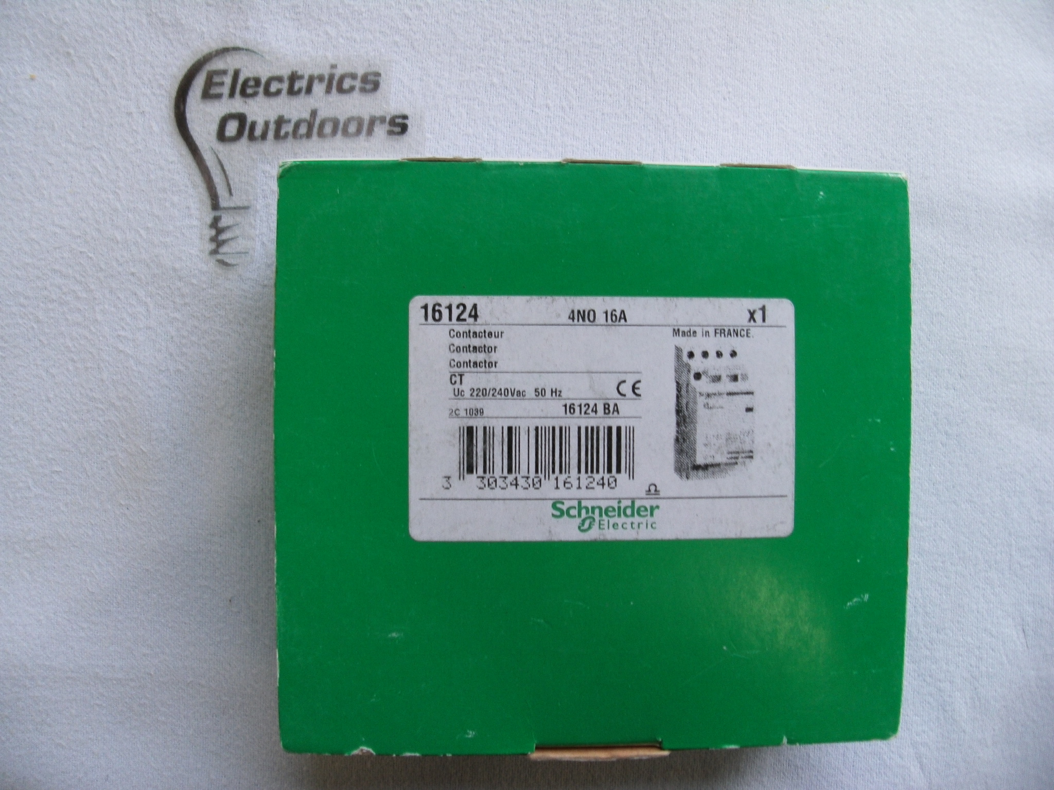 SCHNEIDER ELECTRIC 16 AMP NO CONTACTOR 220/240Vac 4 POLE 16124