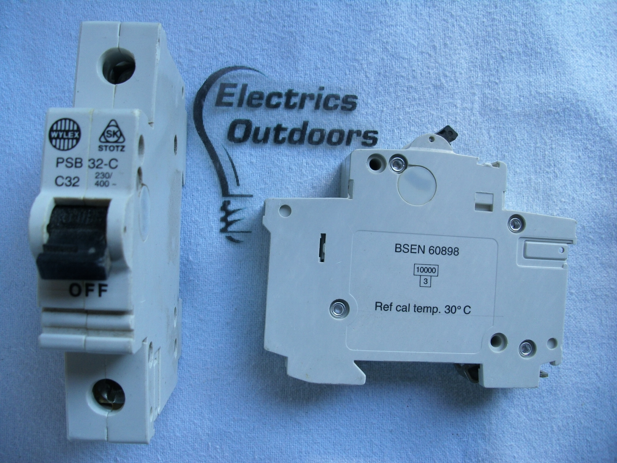 WYLEX PSB 32 AMP TYPE C 10 KA MCB CIRCUIT BREAKER OLD STYLE PSB3