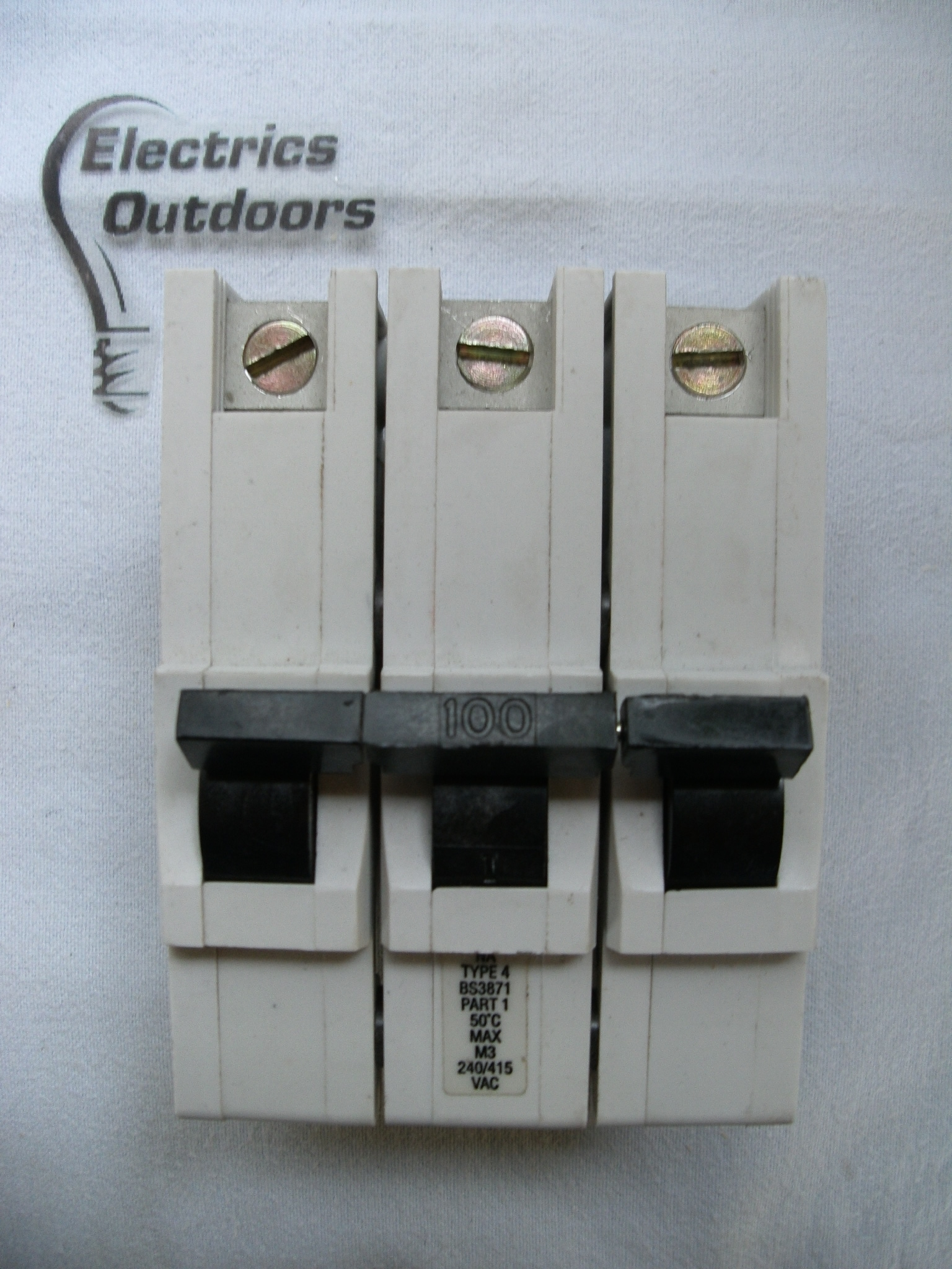 FEDERAL ELECTRIC 100 AMP TYPE 4 M3 TRIPLE POLE MCB CIRCUIT BREAKER STABLOK NA 3