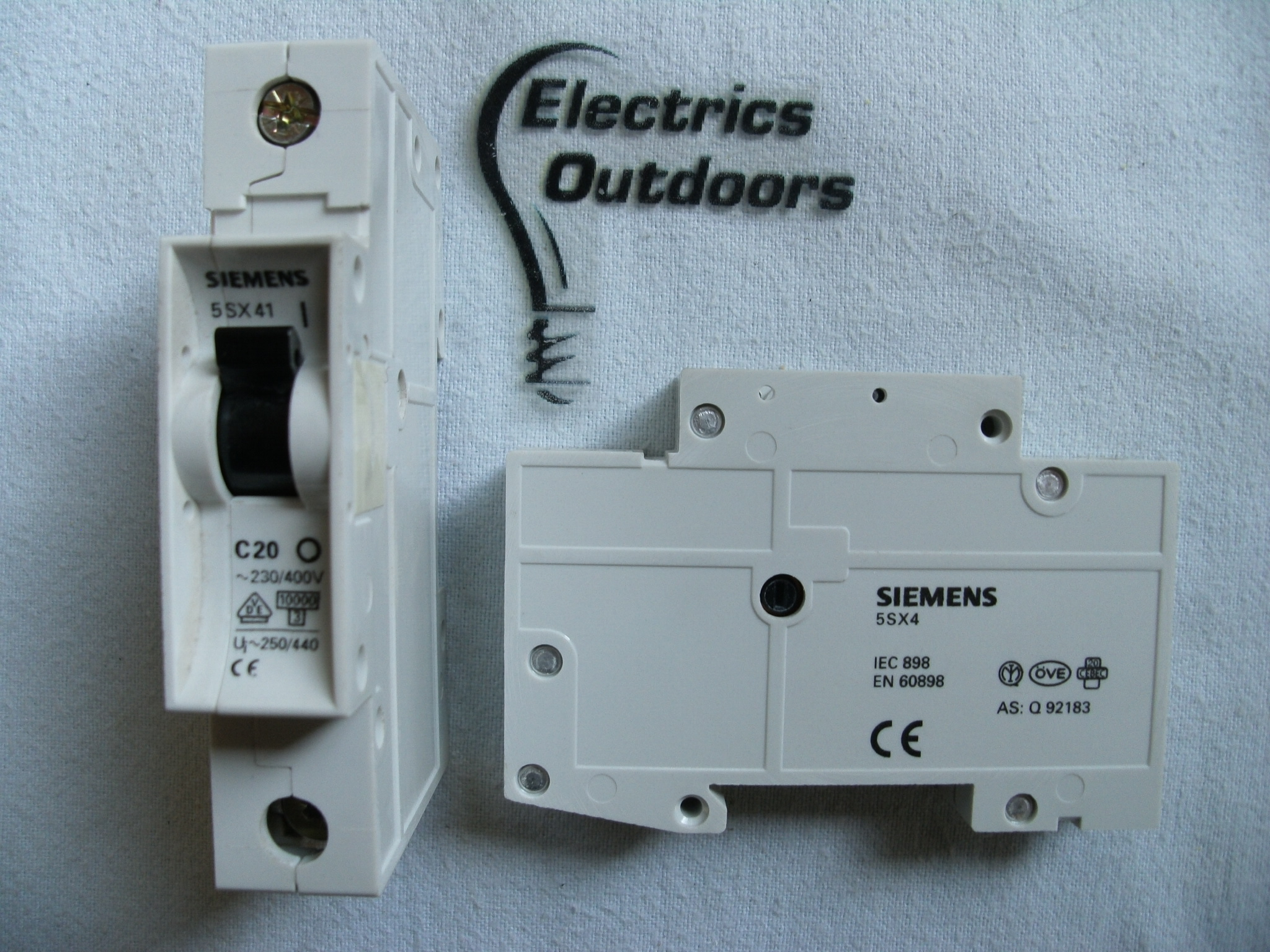 SIEMENS 20 AMP TYPE C 10KA 240V SINGLE POLE MCB CIRCUIT BREAKER 5SX41 BSEN 60898