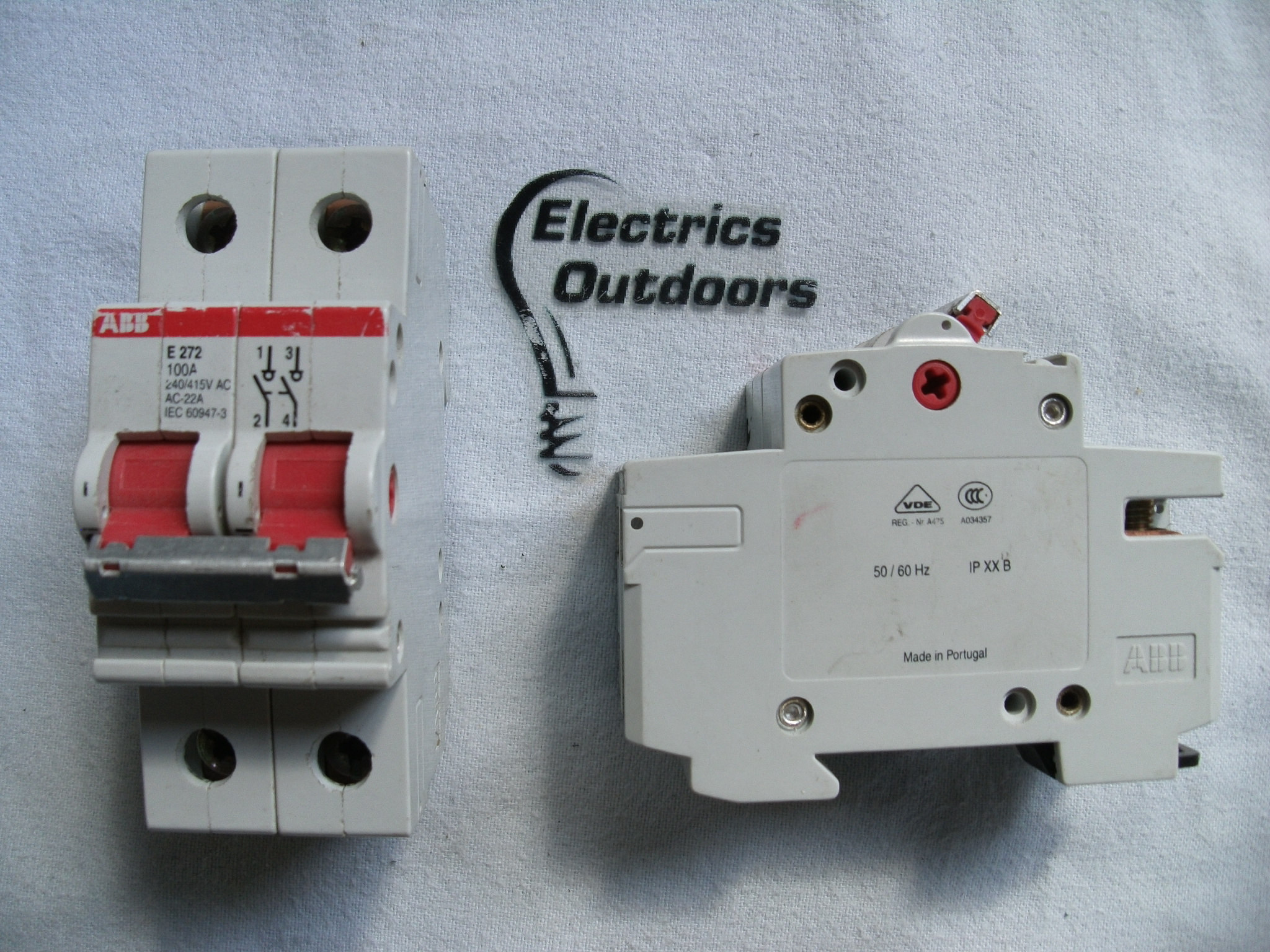 ABB 100 AMP MAIN SWITCH DISCONNECTOR 240/415V E272 AC-22A IEC 60947