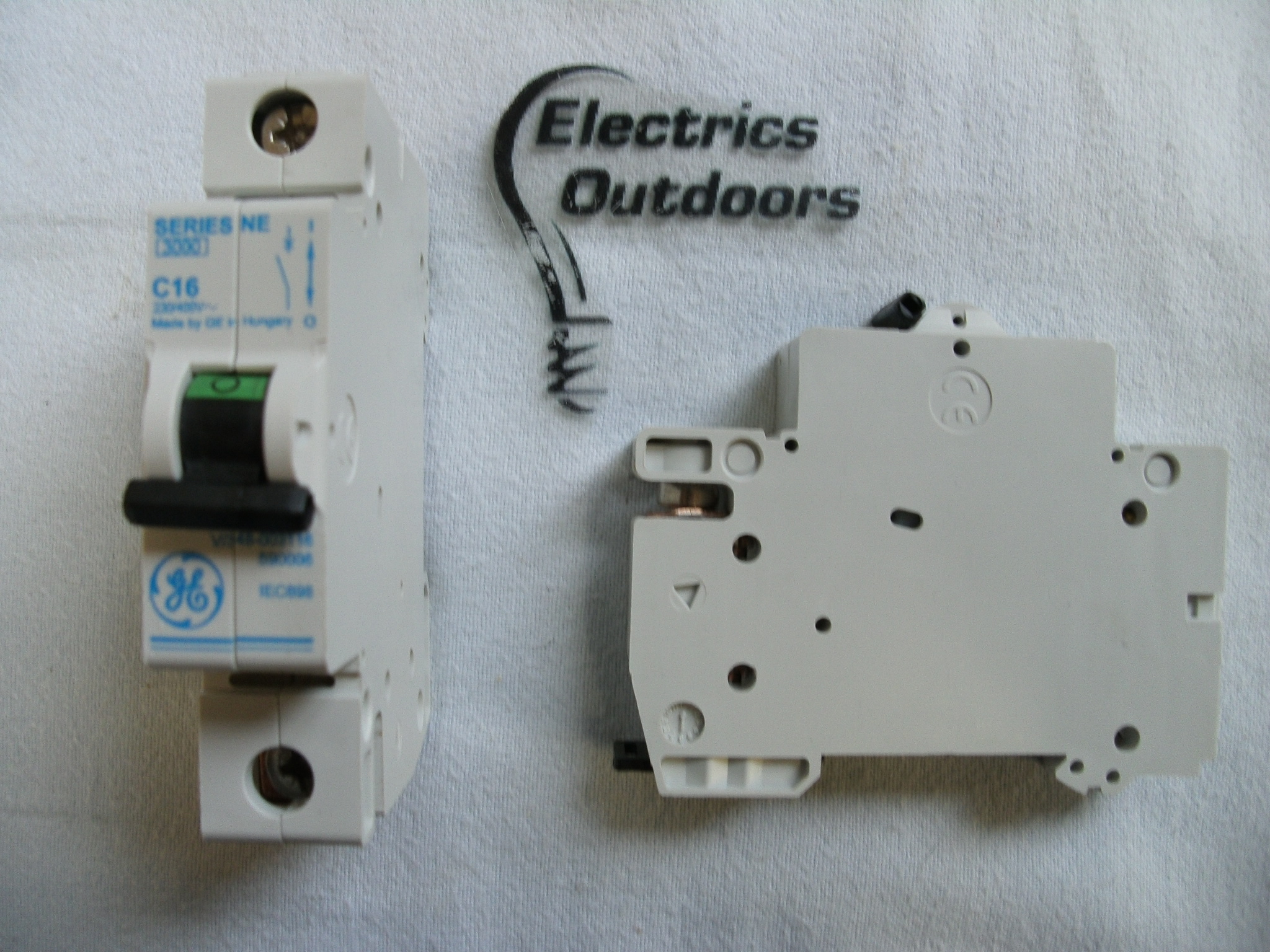 GENERAL ELECTRIC 16 AMP TYPE C 3 kA MCB BREAKER SERIES NE V/348/003116 590006
