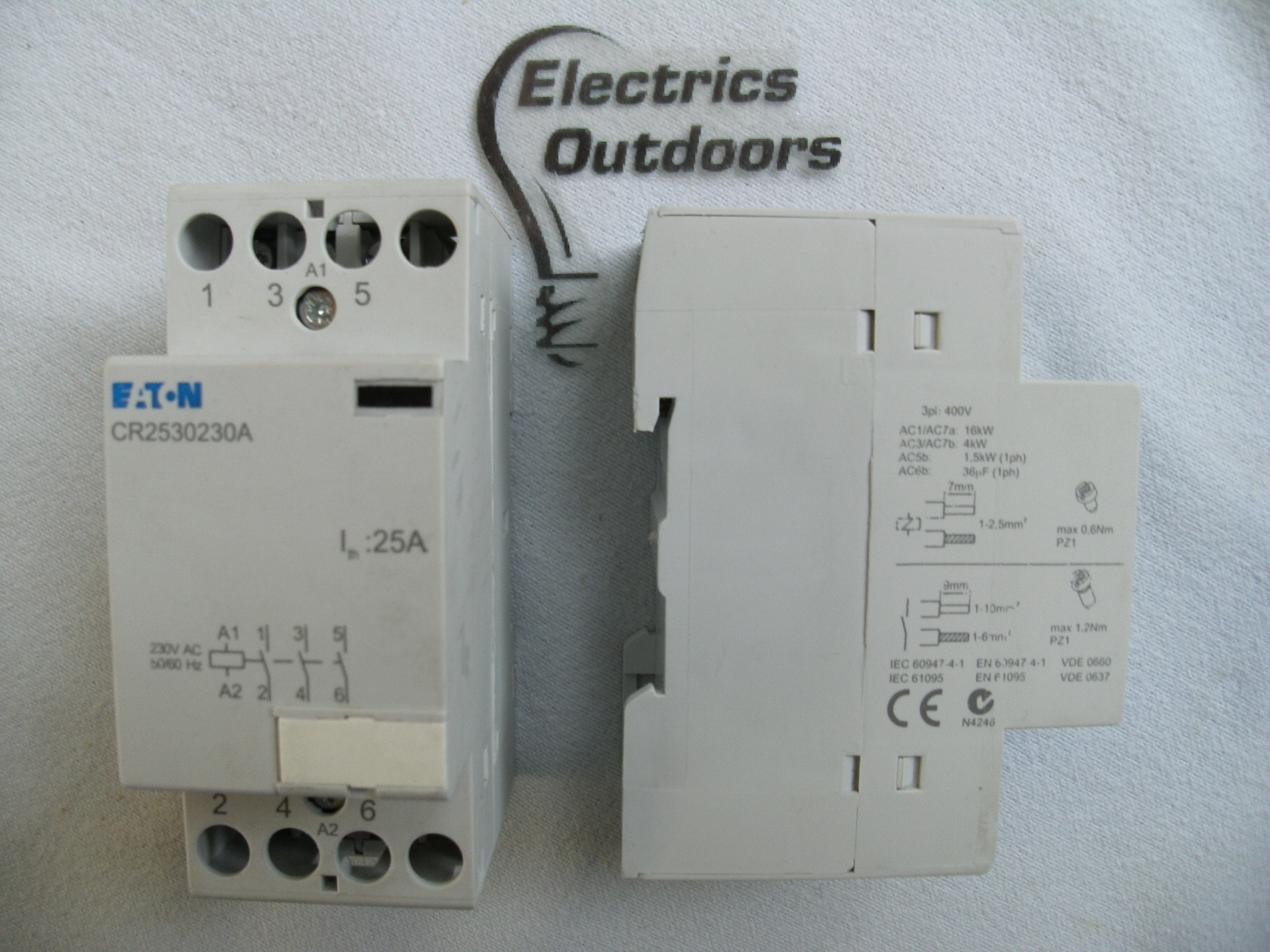 Eaton 25 Amp 230v 400v Triple 3 Pole Contactor Cr2530230a Vde 0660 Phase Wiring Mem 3ph A 4404 Item Condition Used Sorry We Currently Have No Stock