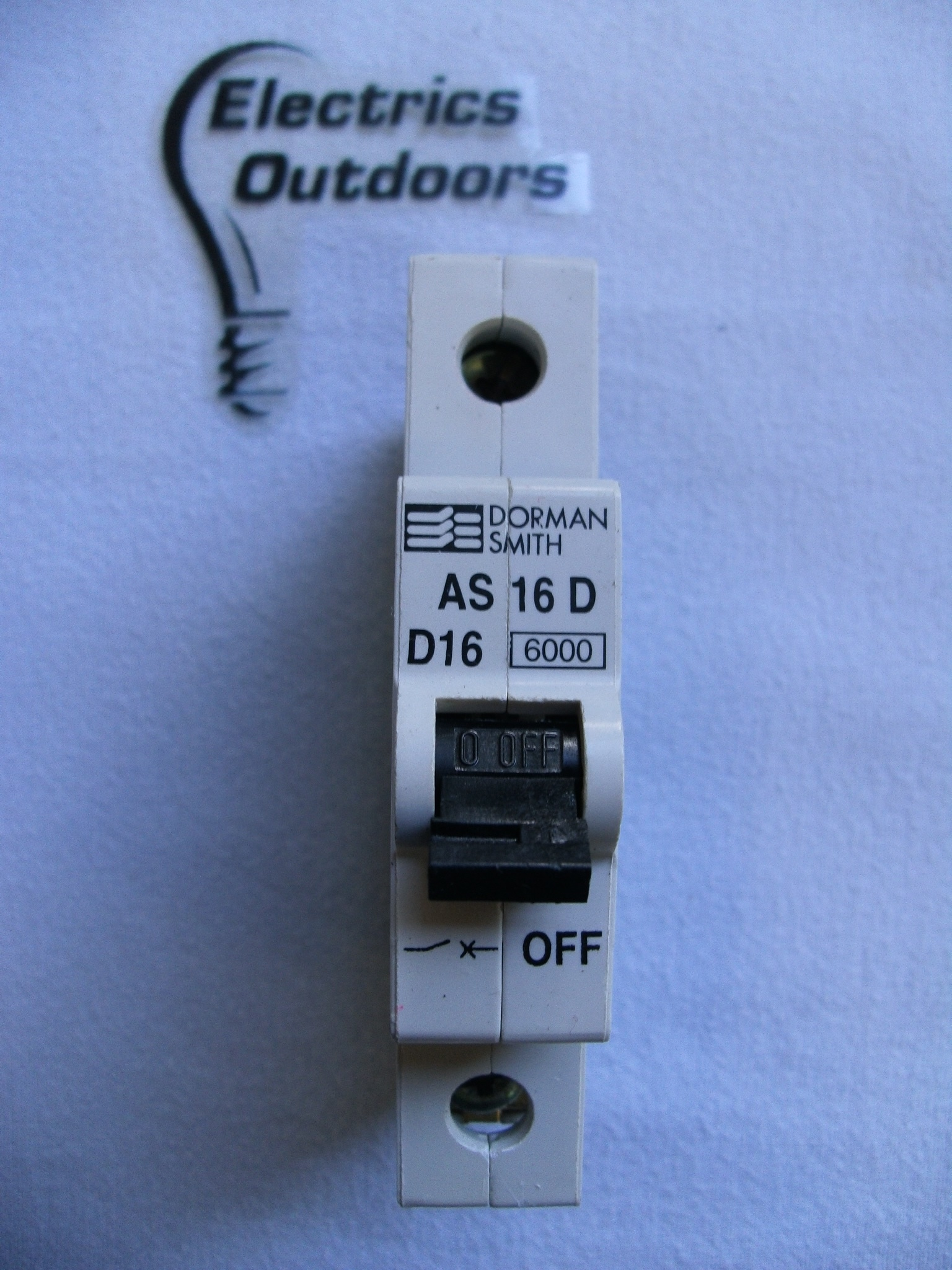 DORMAN SMITH 16 AMP TYPE D 6 kA MCB CIRCUIT BREAKER 230/400V AS16D BS EN 60898