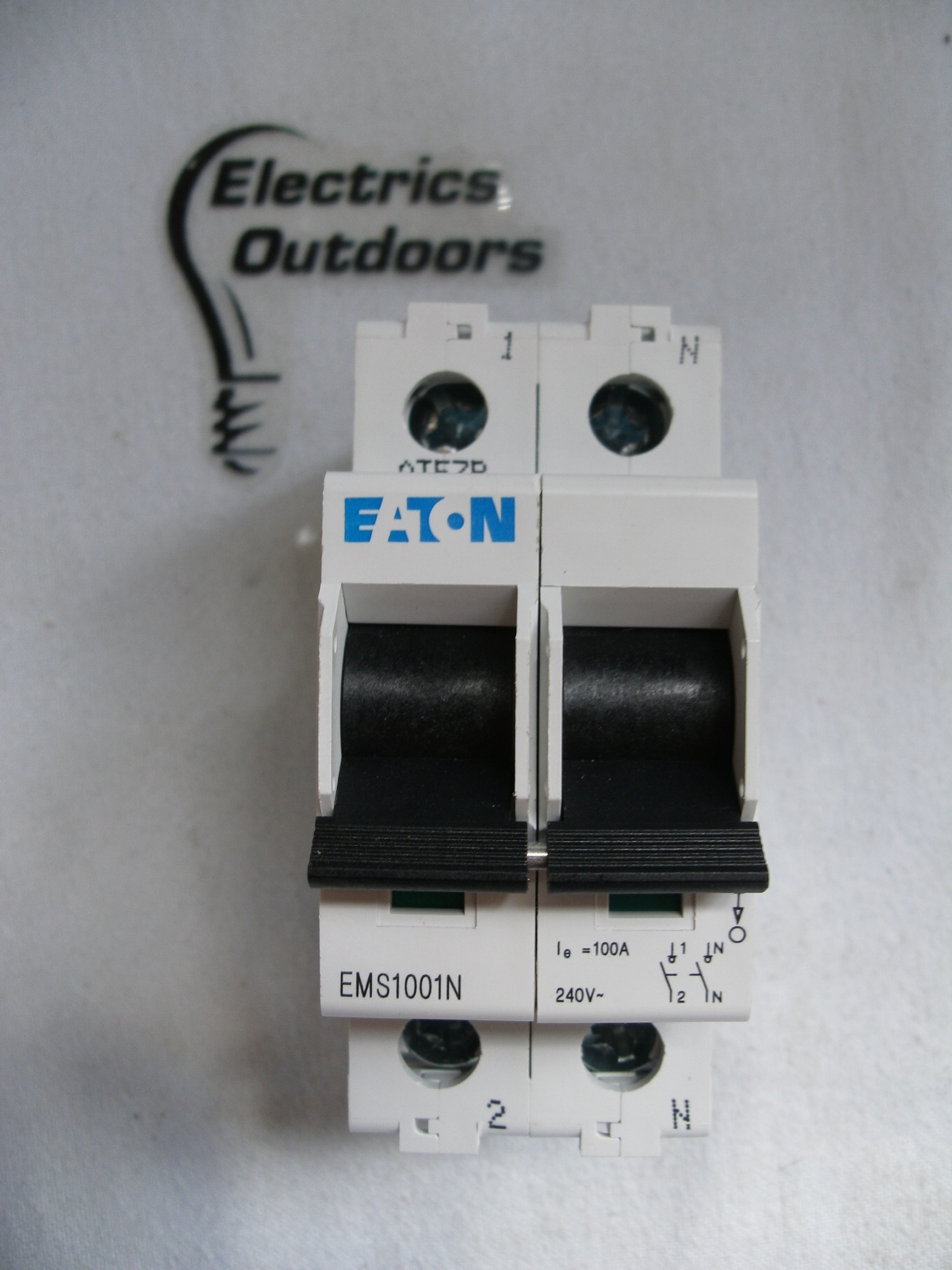 EATON 100 AMP SPN ISOLATOR MAIN SWITCH DISCONNECTOR EMS1001N