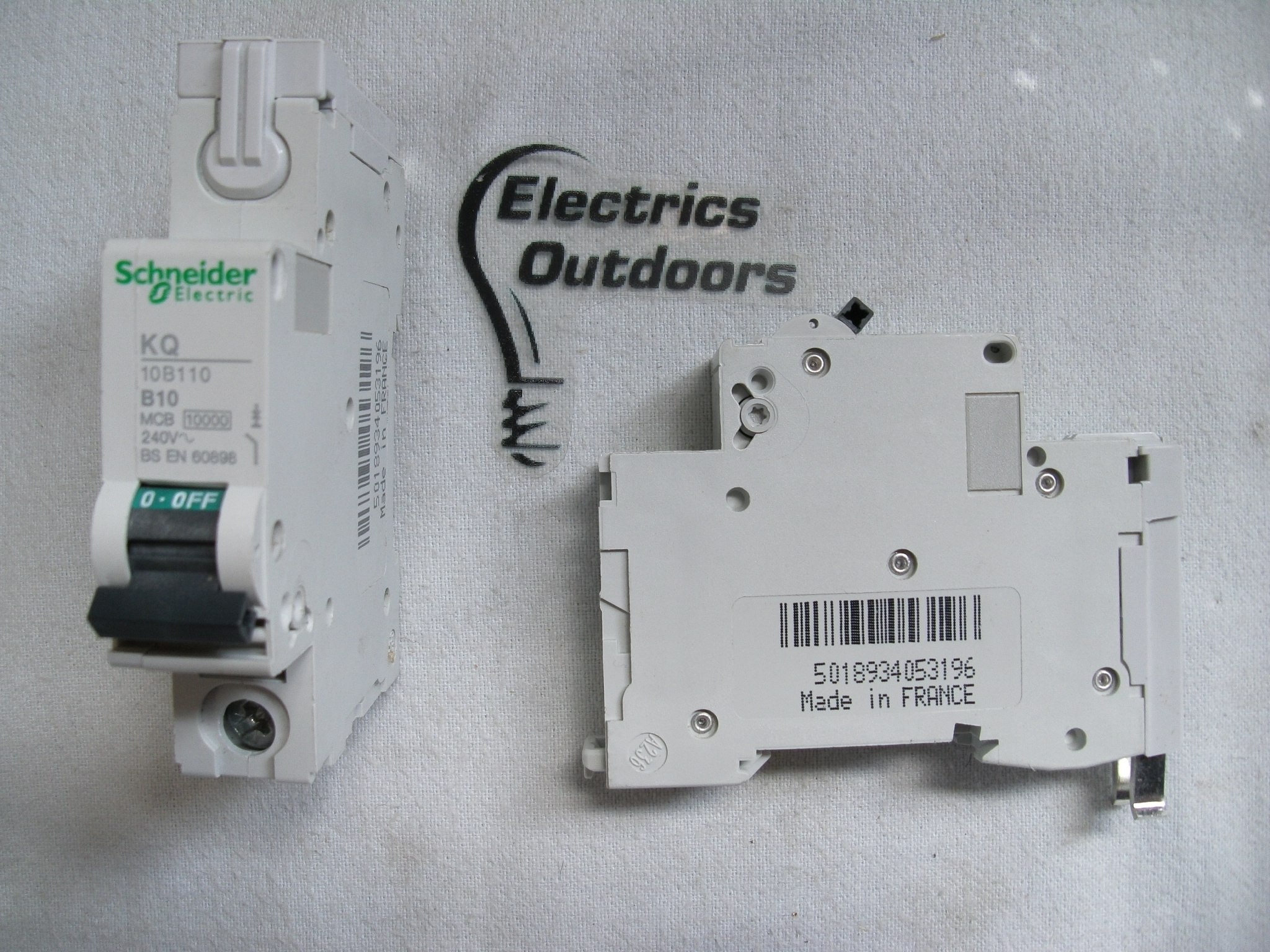 SCHNEIDER ELECTRIC 10 AMP TYPE B 10 kA MCB CIRCUIT BREAKER KQ 10B110 BS EN 60898