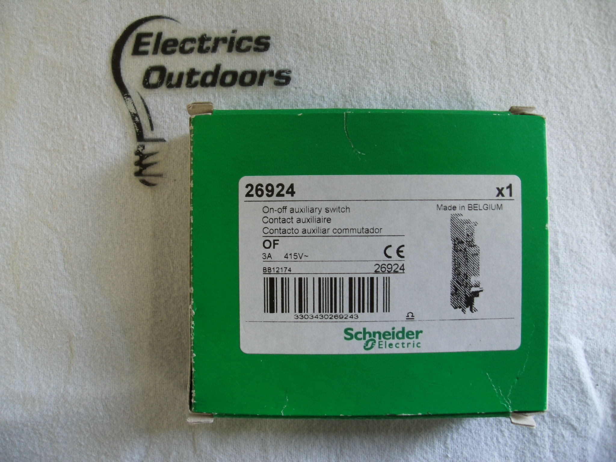 SCHNEIDER ELECTRIC 3 AMP ON OFF AUXILIARY SWITCH 415V OF 26924