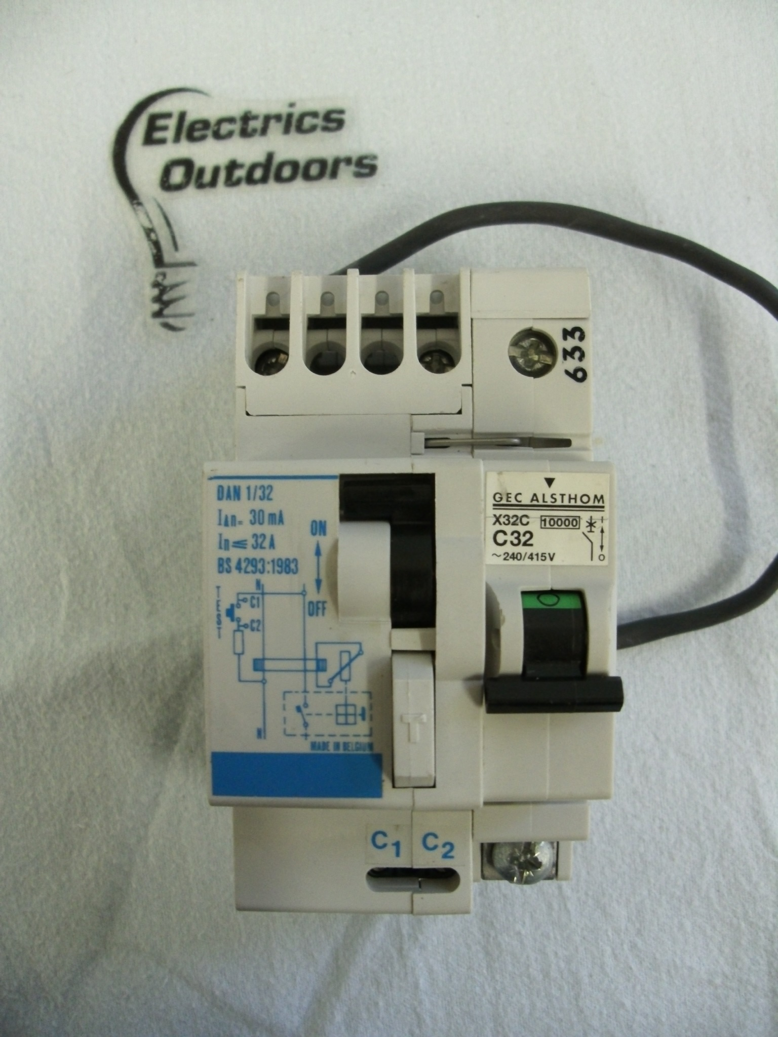 Circuit Breaker Specialists 20a 400v Onoff Mcb With Cover Buy Gec Vynckier 30 Ma Rcd Rcbo Module Dan 1 32 Bs 4293 Amp