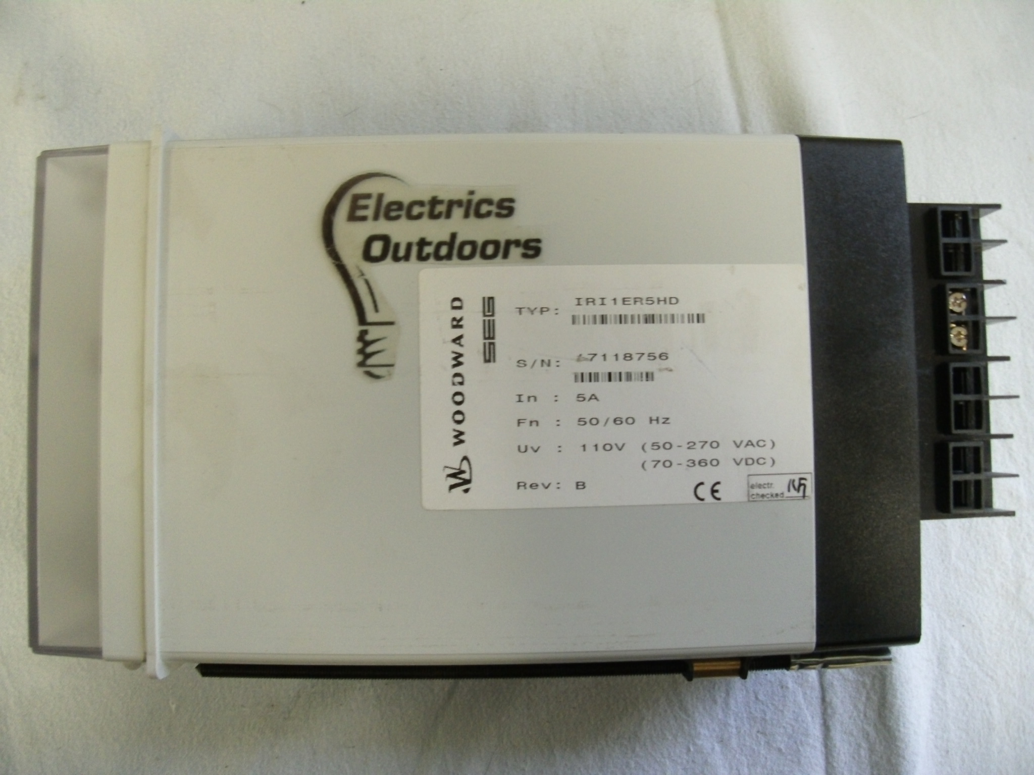WOODWARD STABLIZED EARTH FAULT CURRENT RELAY IRI1ER5HD IRI1 ER5DH ER 5HD