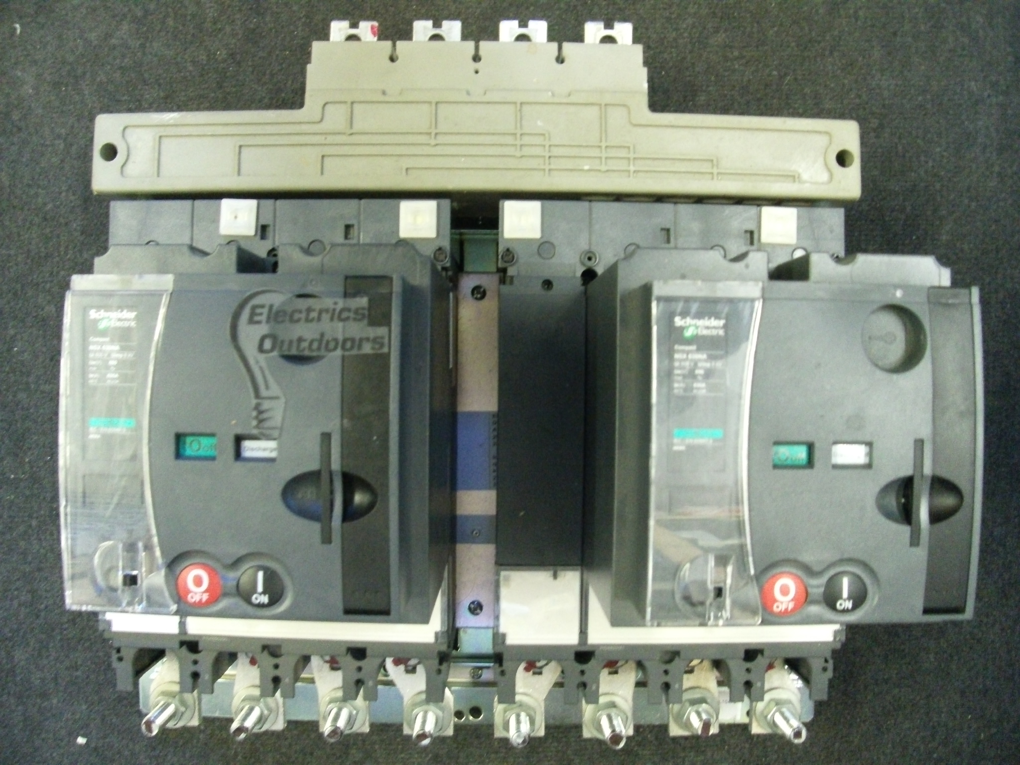 SCHNEIDER ELECTRIC 630 AMP CHANGEOVER SWITCH MCCB NSX 630 NA MT630 ...