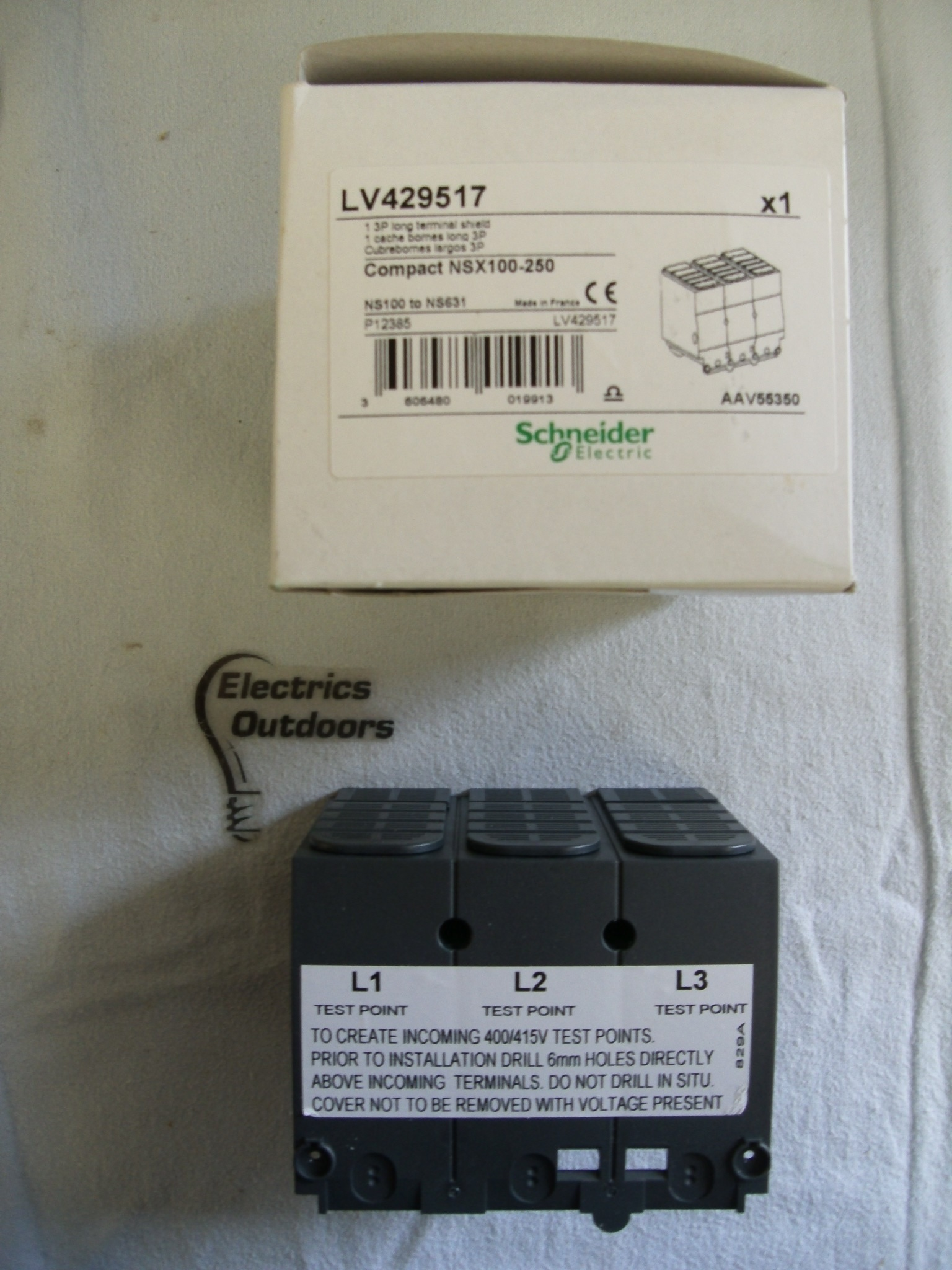 SCHNEIDER ELECTRIC 1 THREE POLE LONG TERMINAL SHIELD COMPACT NSX100 250 LV429517