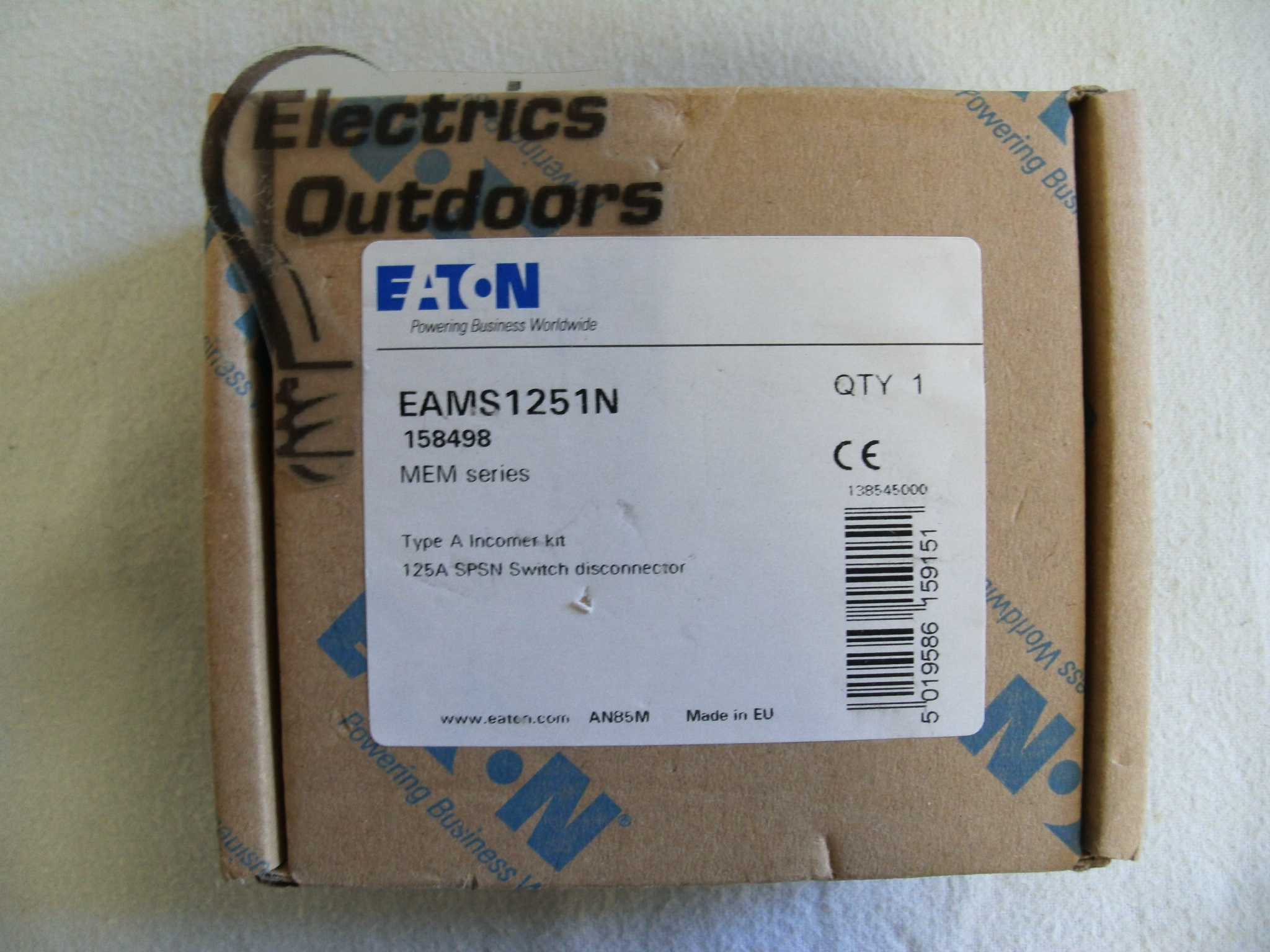 EATON 125 AMP MAIN SWITCH DISCONNECTOR SPSN 240V EMS1251N EAMS1251N