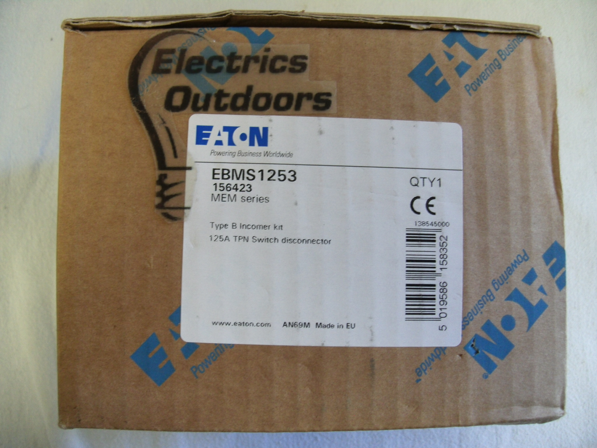 EATON 125 AMP TPN MAIN SWITCH DISCONNECTOR EBMS1253
