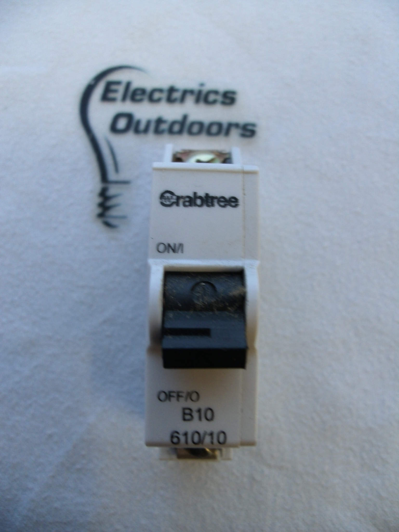 CRABTREE 10 AMP TYPE B 6 kA MCB CIRCUIT BREAKER 230V 610/10 BS EN 60898