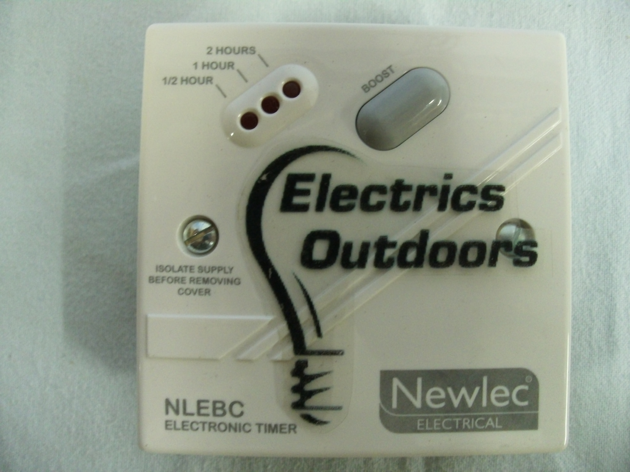 NEWLEC 3 kW BOOST CONTROL TIMESWITCH 30 60 AND 120 MINUTES NLEBC