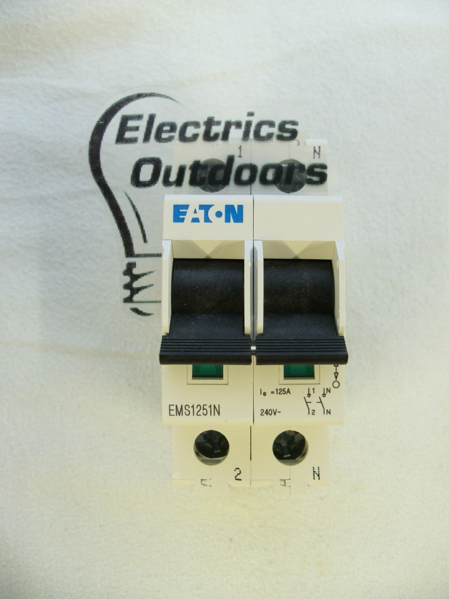 EATON 125 AMP DOUBLE POLE ISOLATOR MAIN SWITCH DISCONNECTOR EMS1251N
