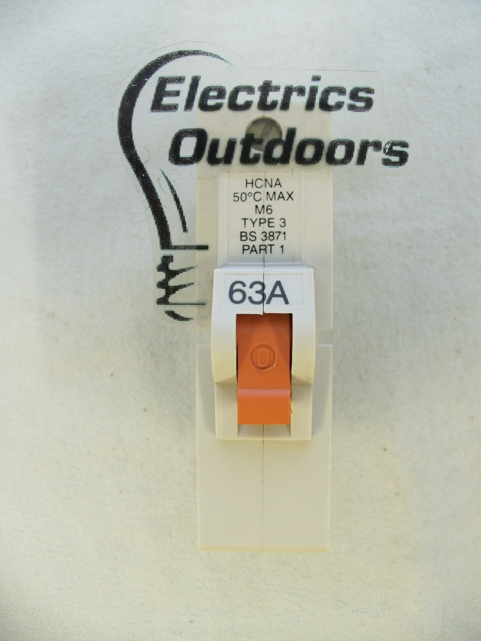 FEDERAL ELECTRIC 63 AMP TYPE 3 M6 MCB CIRCUIT BREAKER STABLOK HCNA1P63 HCNA