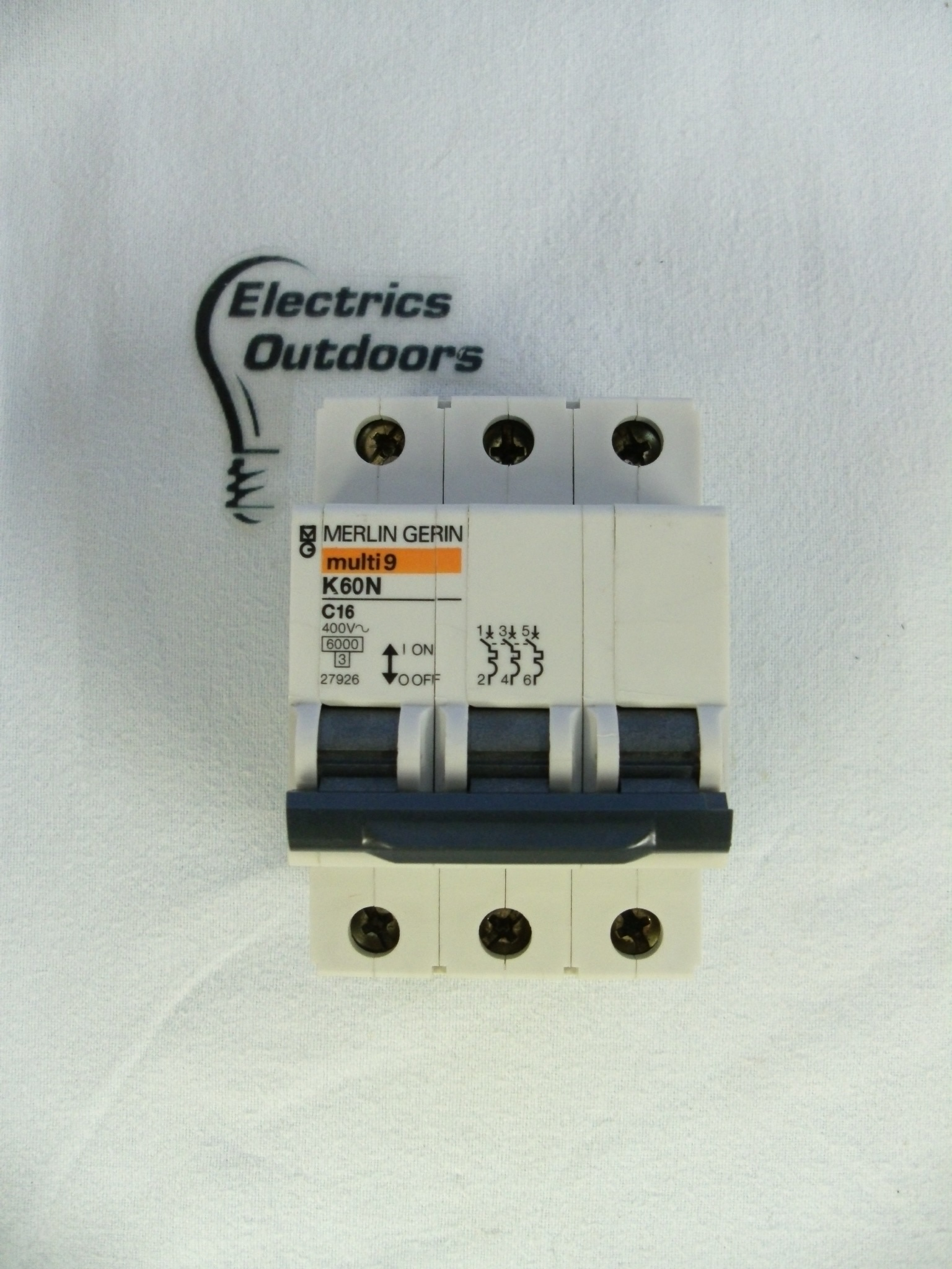 MERLIN 16 AMP TYPE C 6 kA TRIPLE POLE MCB CIRCUIT BREAKER MULTI 9 K60N 27926