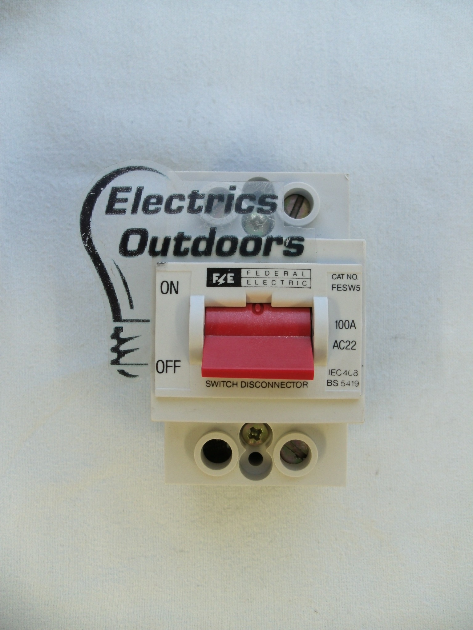 FEDERAL ELECTRIC 100 AMP DOUBLE POLE MAIN SWITCH DISCONNECTOR FESW5