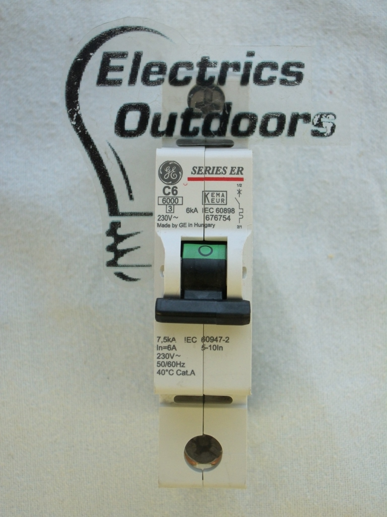 GENERAL ELECTRIC 6 AMP TYPE C 6 kA MCB CIRCUIT BREAKER SERIES ER 676754