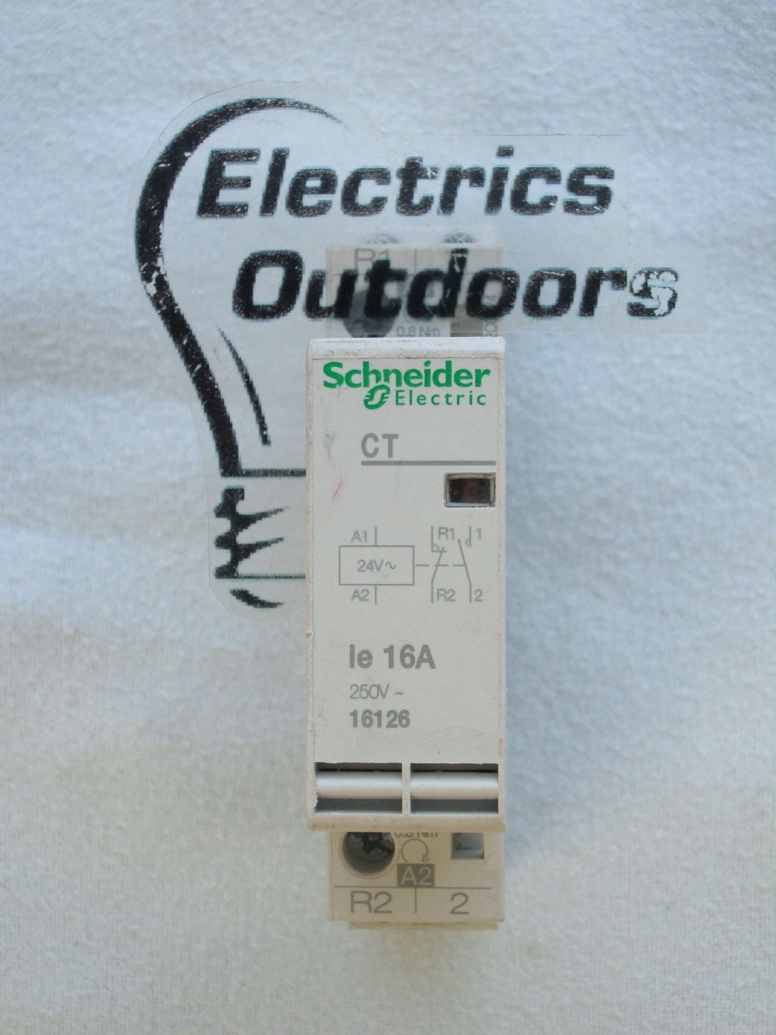 SCHNEIDER ELECTRIC 16 AMP 24V DOUBLE POLE CONTACTOR 250V CT 16126 BS EN 61095