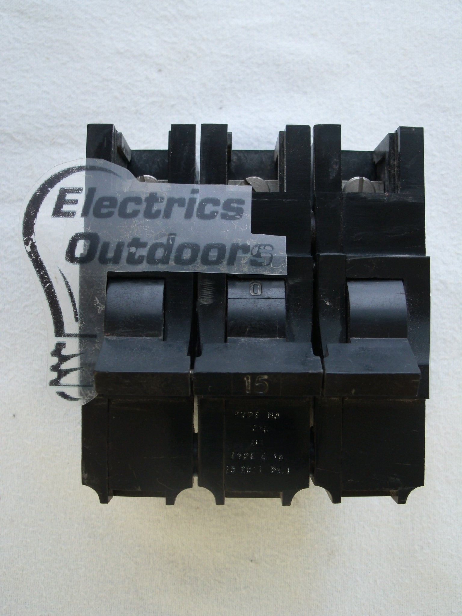 FEDERAL ELECTRIC 15 AMP TYPE 4 M5 TRIPLE POLE MCB CIRCUIT BREAKER STABLOK NA