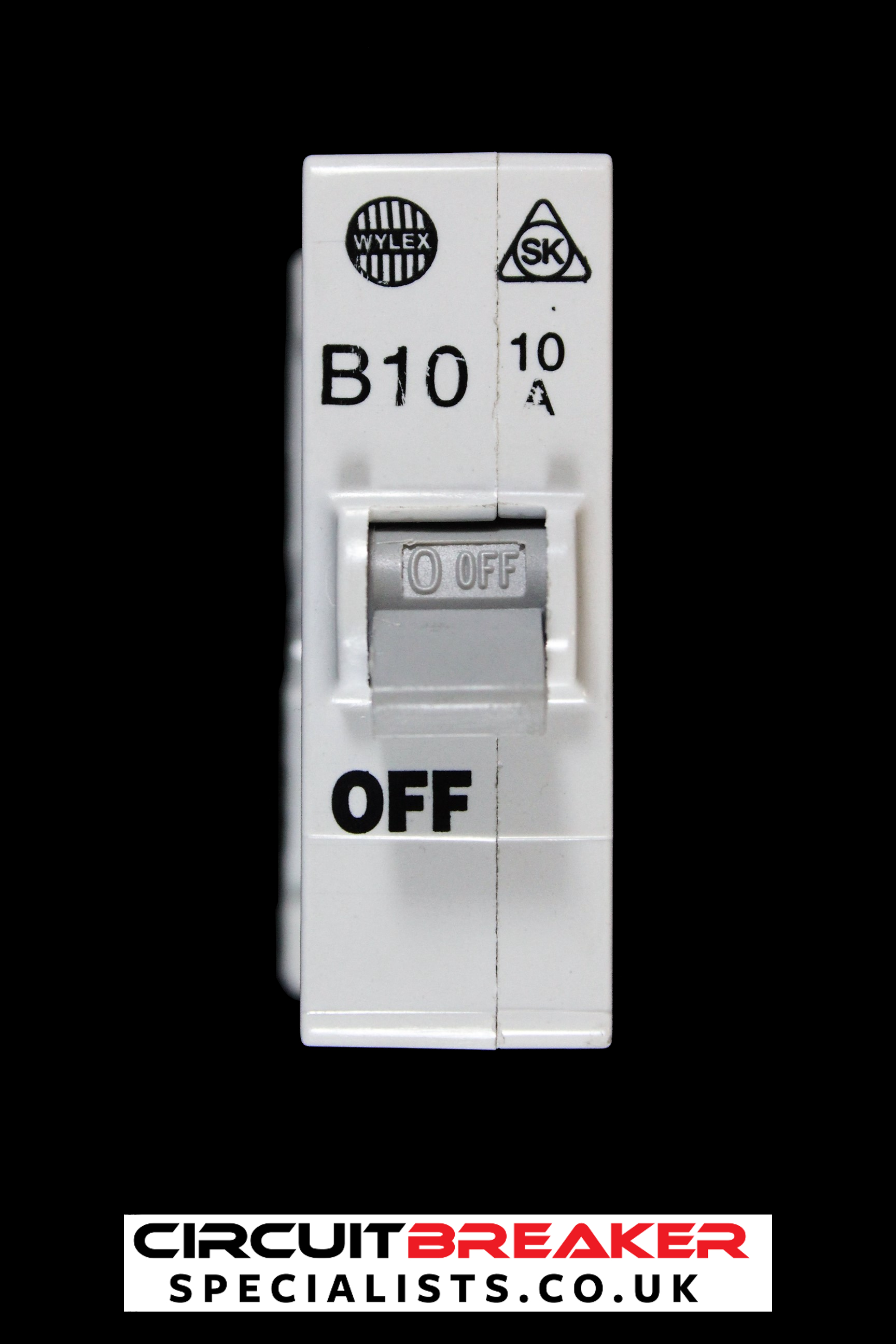 WYLEX 10 AMP TYPE B 3 kA MCB CIRCUIT BREAKER SK PUSH PLUG IN