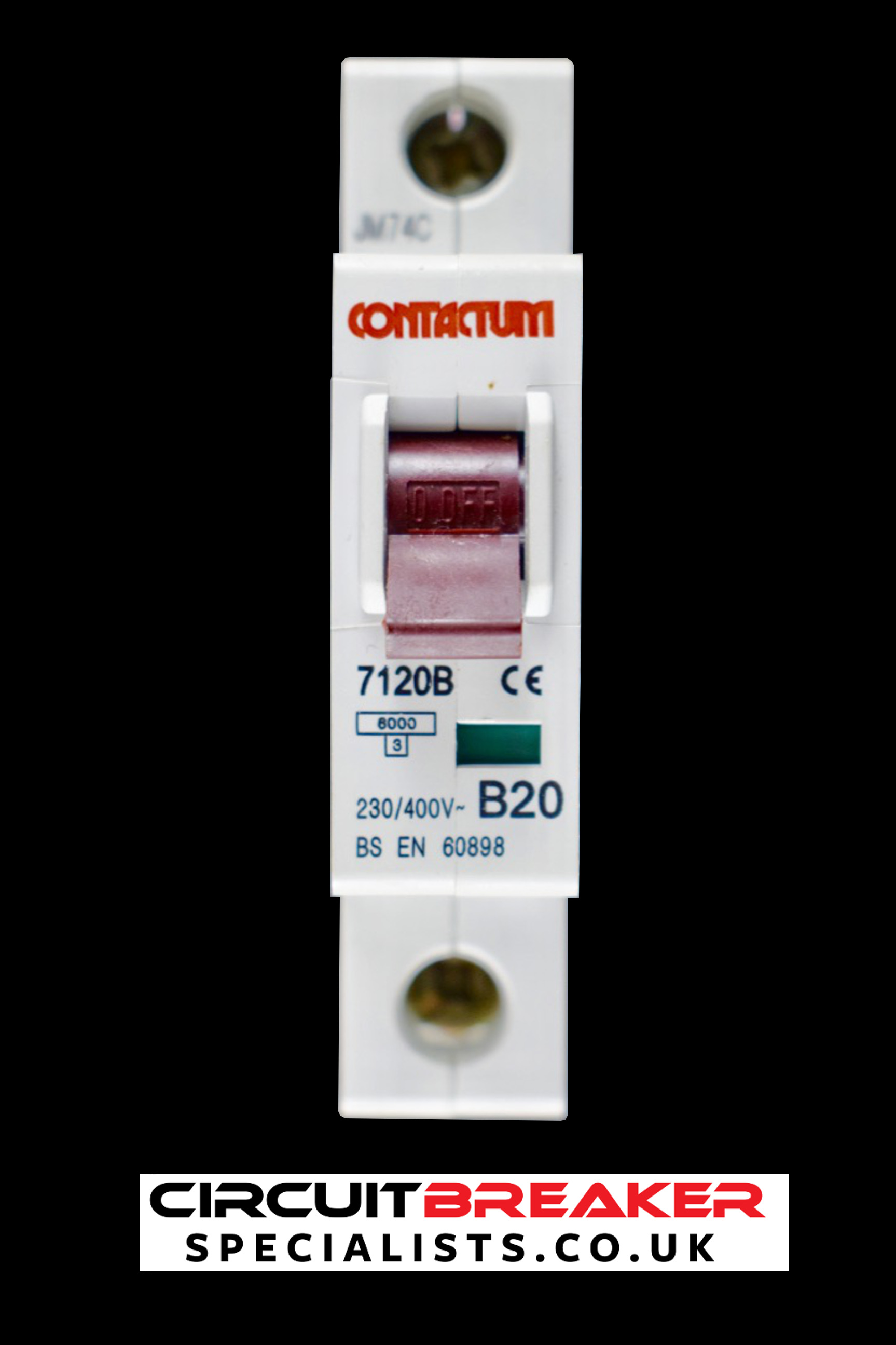 Circuit Breaker Specialists 20a 400v Onoff Mcb With Cover Buy Contactum B 20 Amp 7120b Red