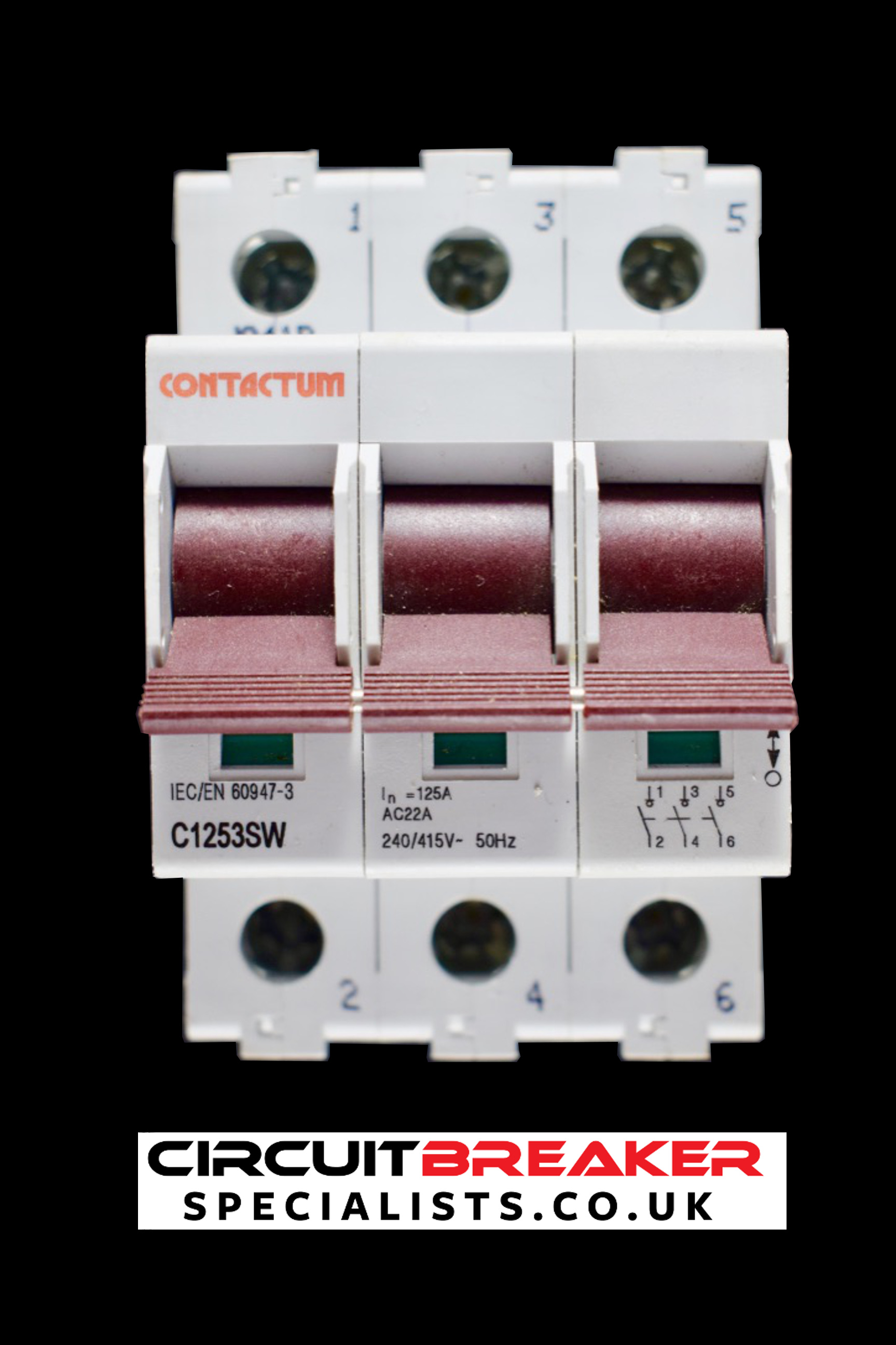 CONTACTUM 100 AMP TRIPLE POLE MAIN SWITCH DISCONNECTOR C1253SW