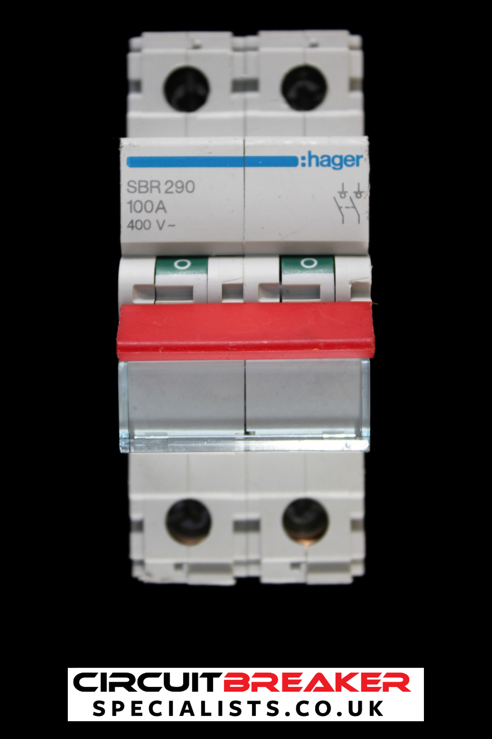 HAGER 100 AMP MAIN SWITCH DISCONNECTOR DOUBLE POLE SBR290