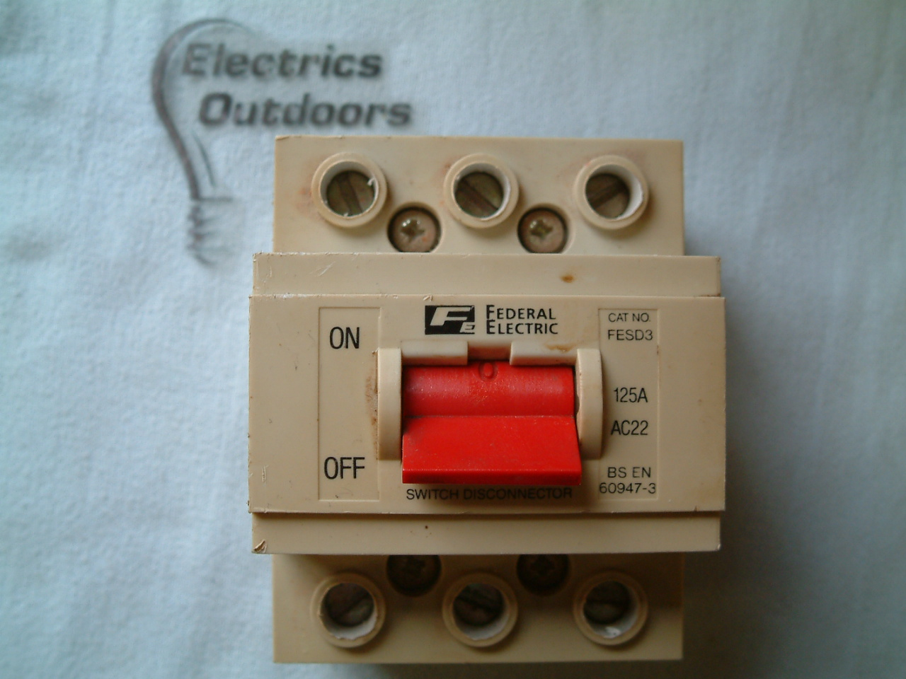 FEDERAL ELECTRIC 125 AMP MAIN SWITCH DISCONNECTOR 240/415V FESD3 BS EN 60947