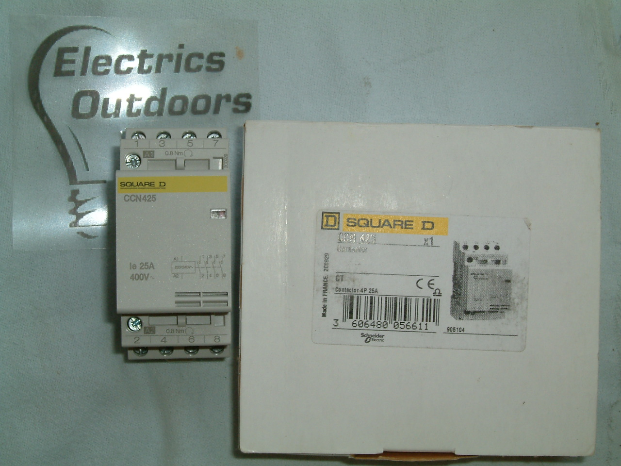 SCHNEIDER SQUARE D 25 Amp 4 POLE CONTACTOR CCN 425