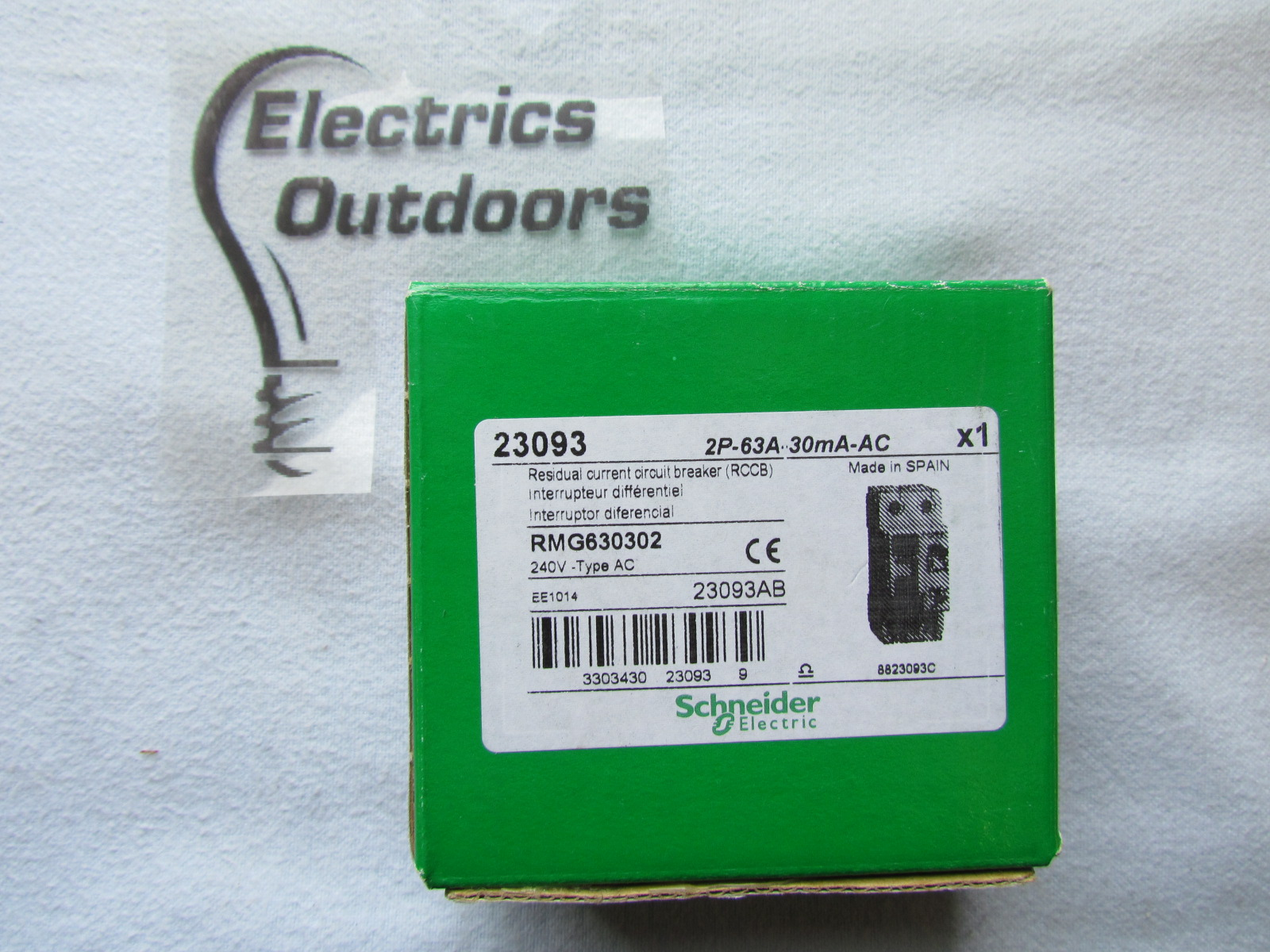 SCHNEIDER ELECTRIC 63 AMP 10 kA 30 mA DOUBLE POLE RCCB RCD 240V 23093 RMG  630302 [138] Item Condition: NEW Sorry we currently have no stock
