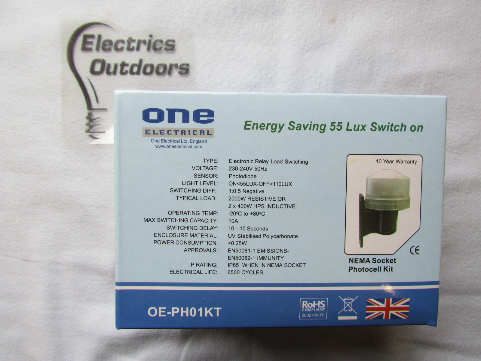 QUALITY PHOTO CELL KIT 2 KW DUSK TO DAWN ENERGY SAVING