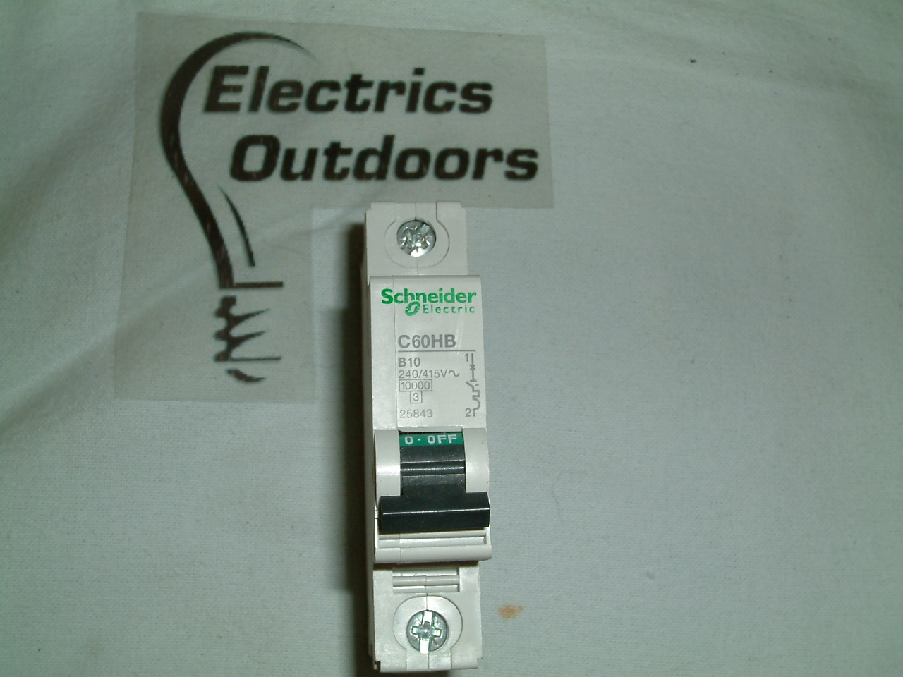SCHNEIDER B 10 Amp MCB 10kA C60HB 25843 CIRCUIT BREAKER A SINGLE