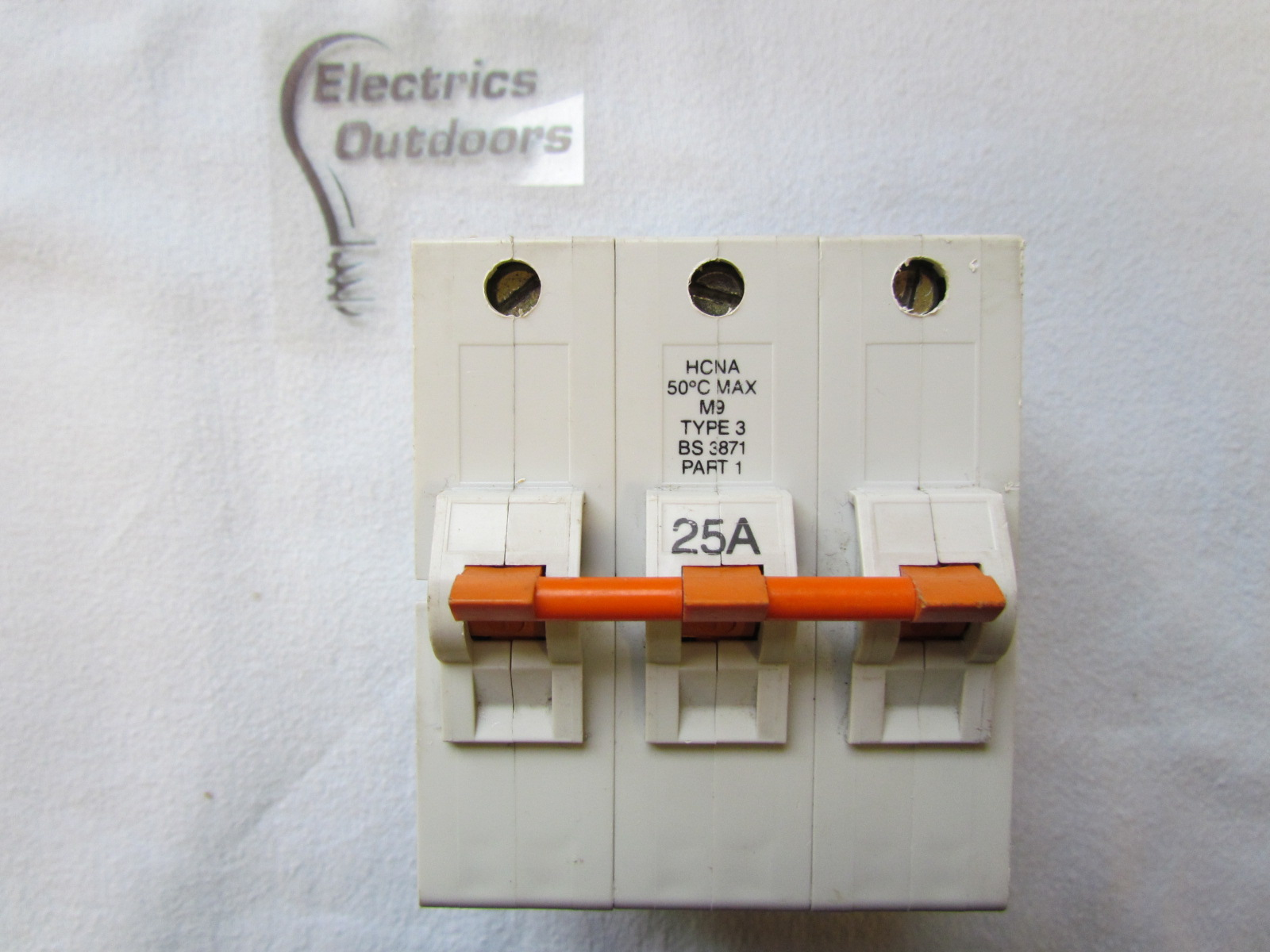 FEDERAL ELECTRIC STABLOK 25 AMP TYPE 3 HCNA THREE POLE 415V MCB