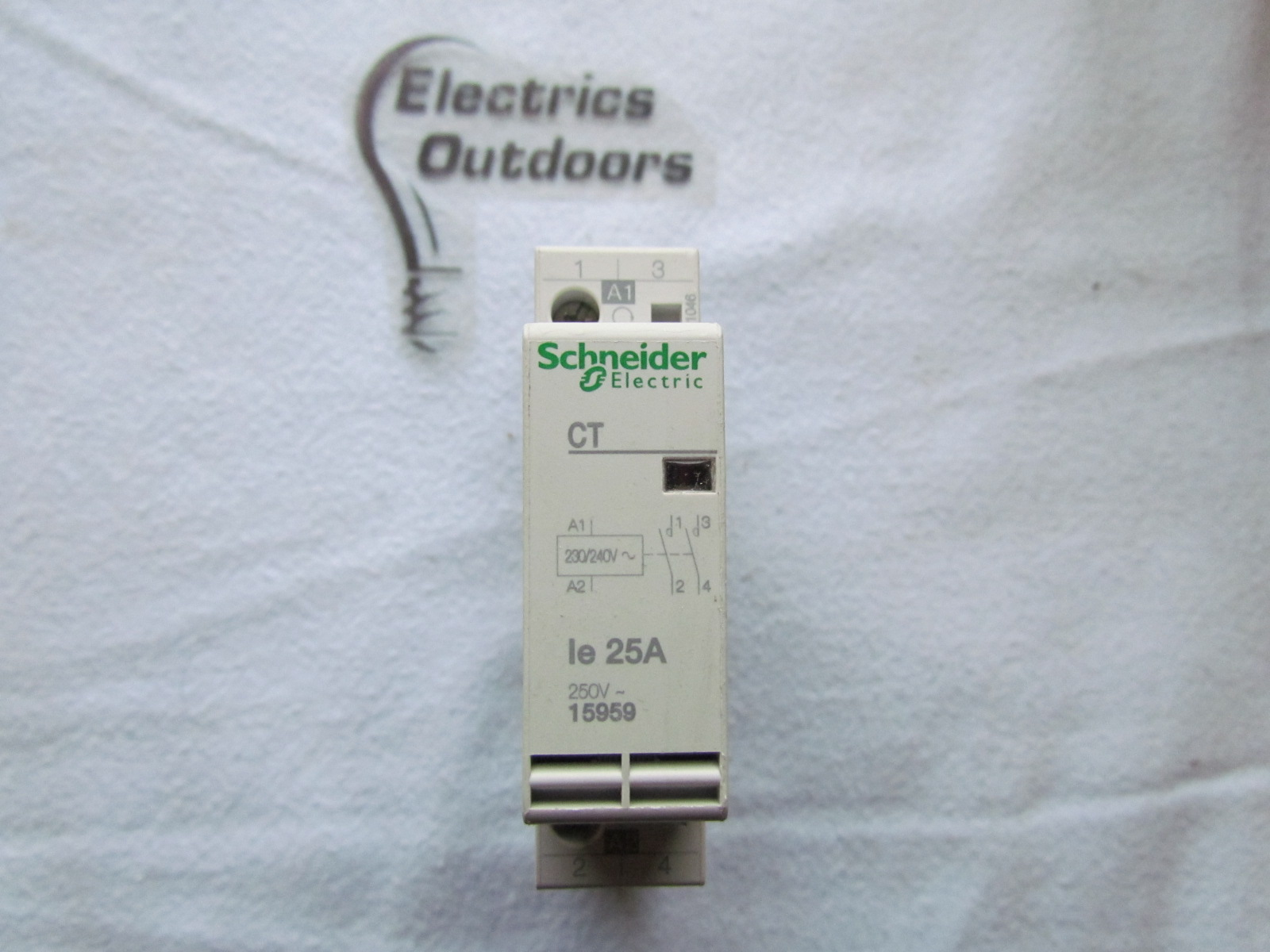 SCHNEIDER ELECTRIC 25 AMP CT CONTACTOR 2 POLE NORMALLY OPEN 250