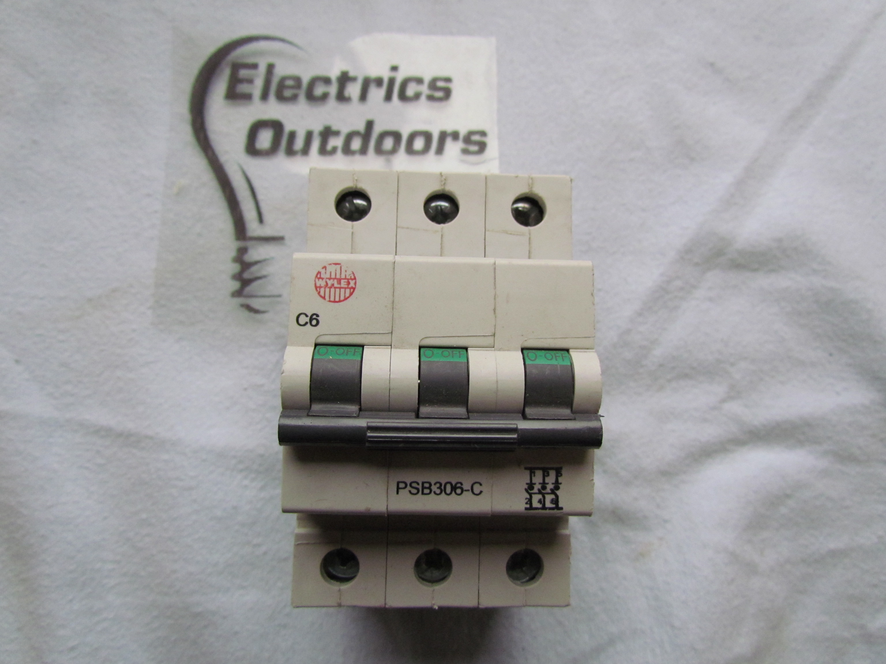 NEW WYLEX 6 AMP TYPE C MCB CIRCUIT BREAKER 3 POLE PSB306-C IEC 8